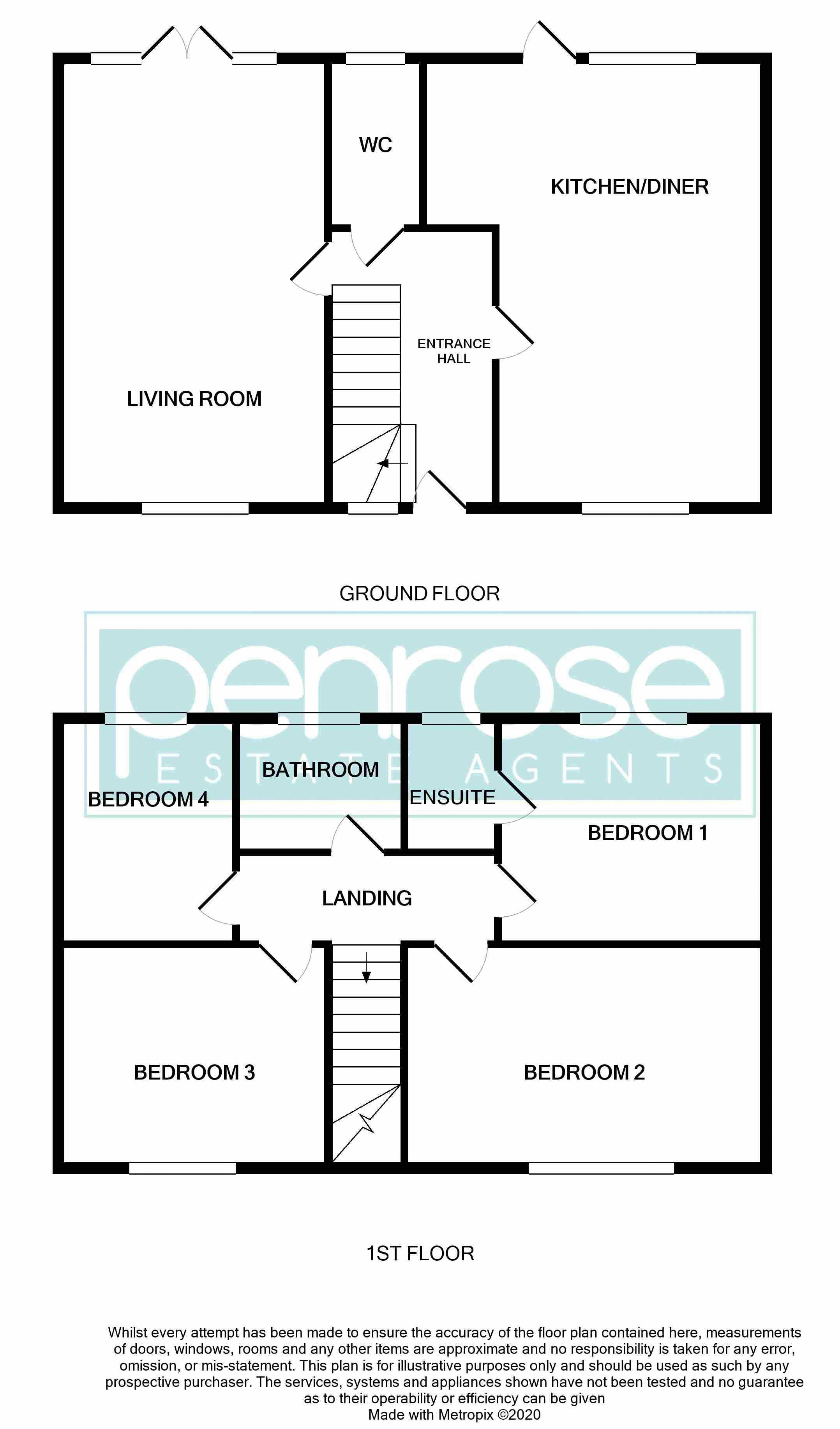 4 bedroom Detached  to buy in Ryefield, Luton Floorplan