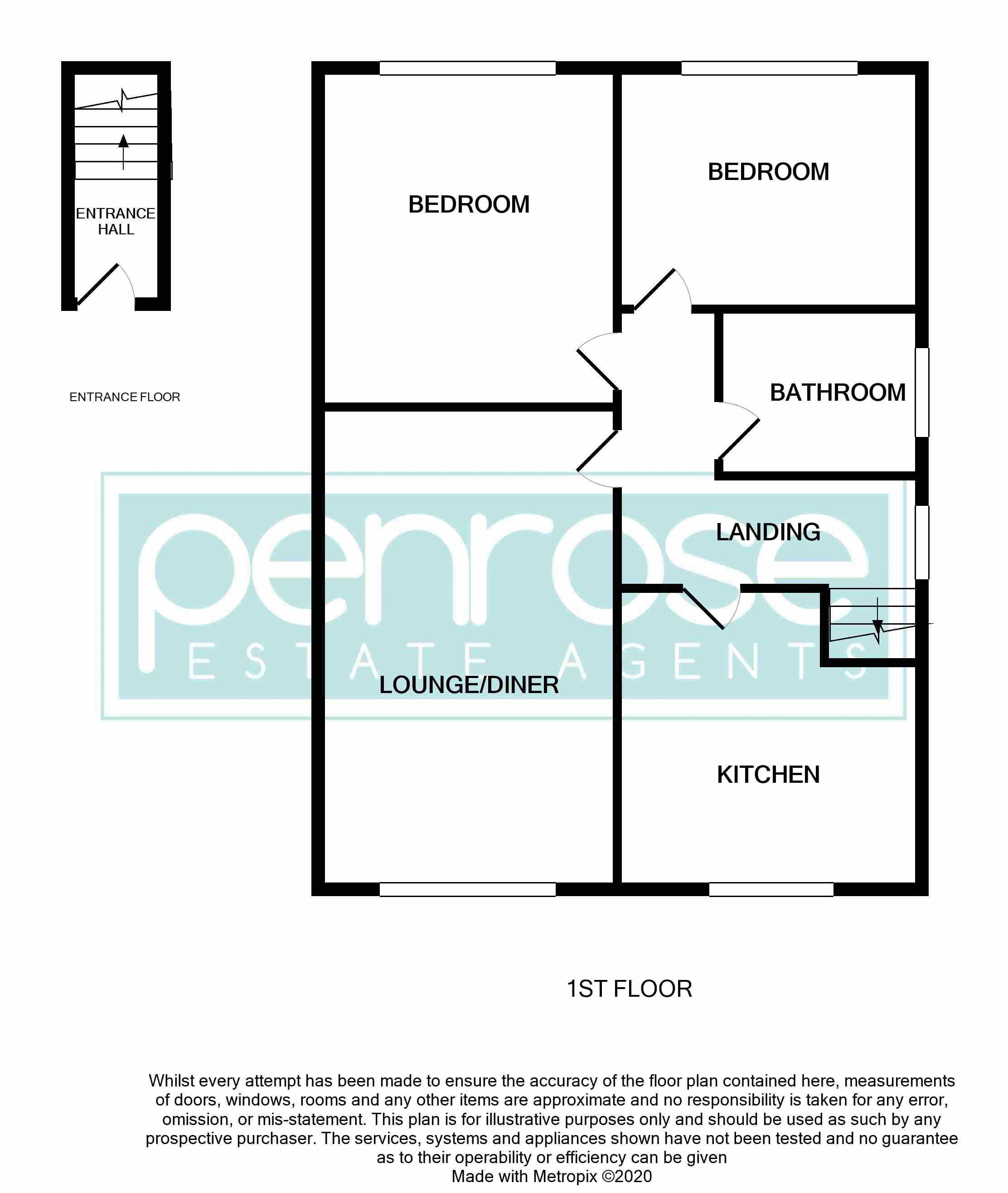 2 bedroom Maisonette to buy in Lawn Gardens, Luton Floorplan