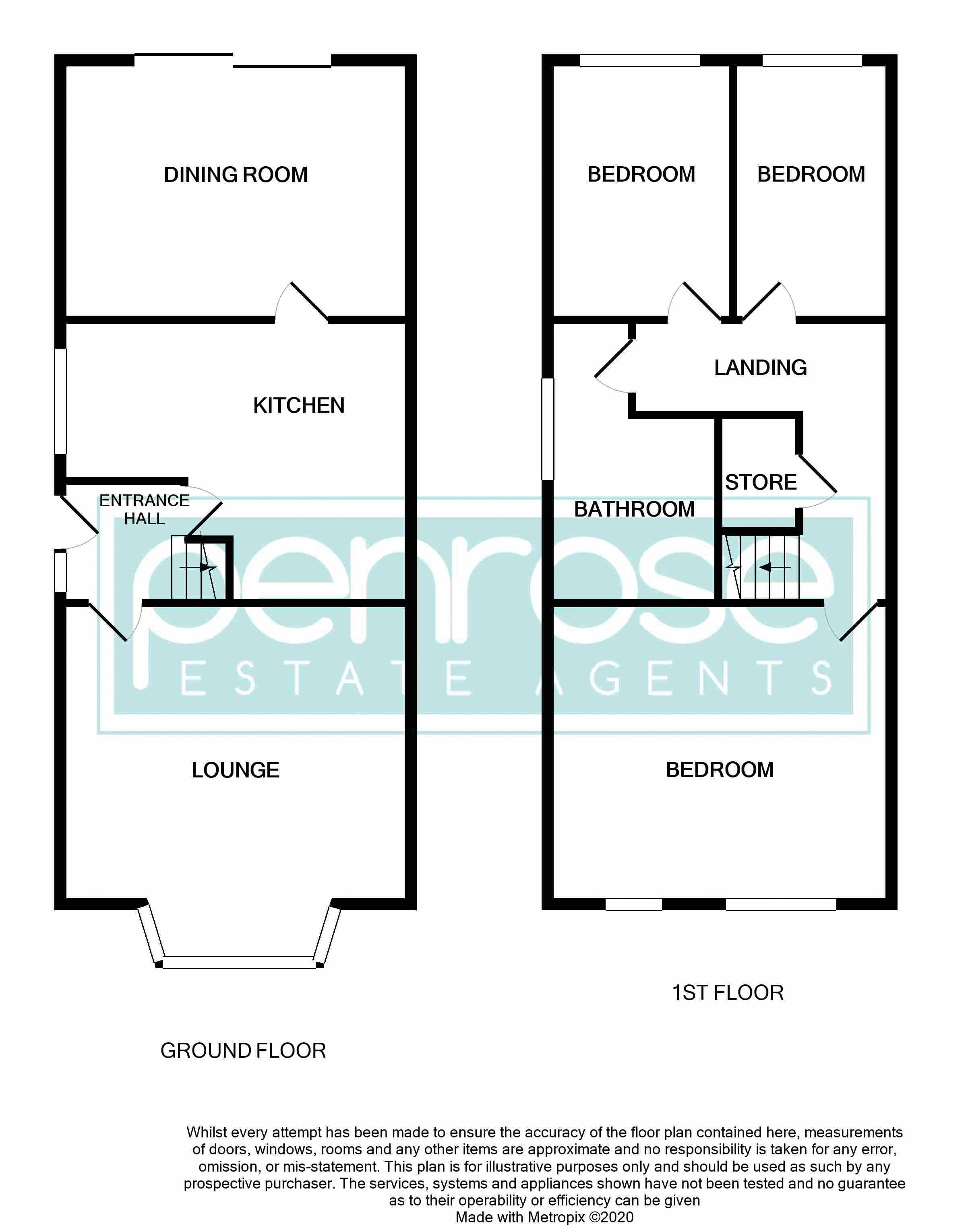 3 bedroom Semi-Detached  to buy in Runfold Avenue, Luton Floorplan
