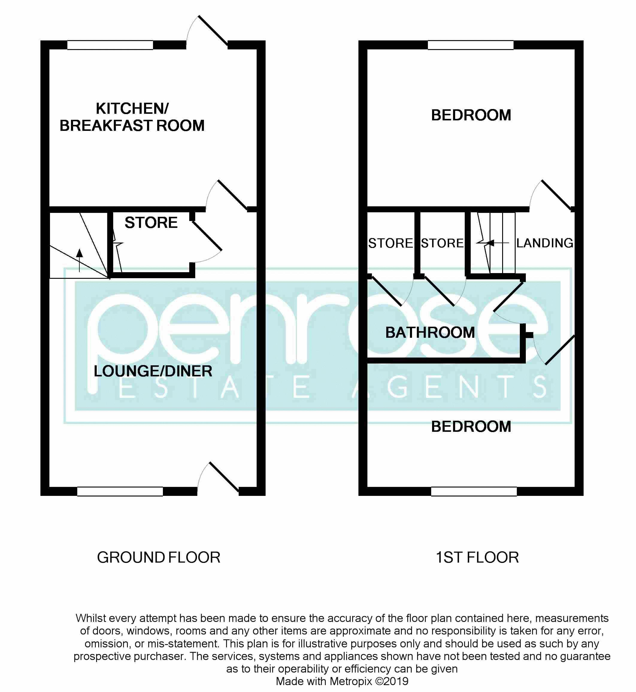 2 bedroom Mid Terrace to buy in Elveden Close, Luton Floorplan