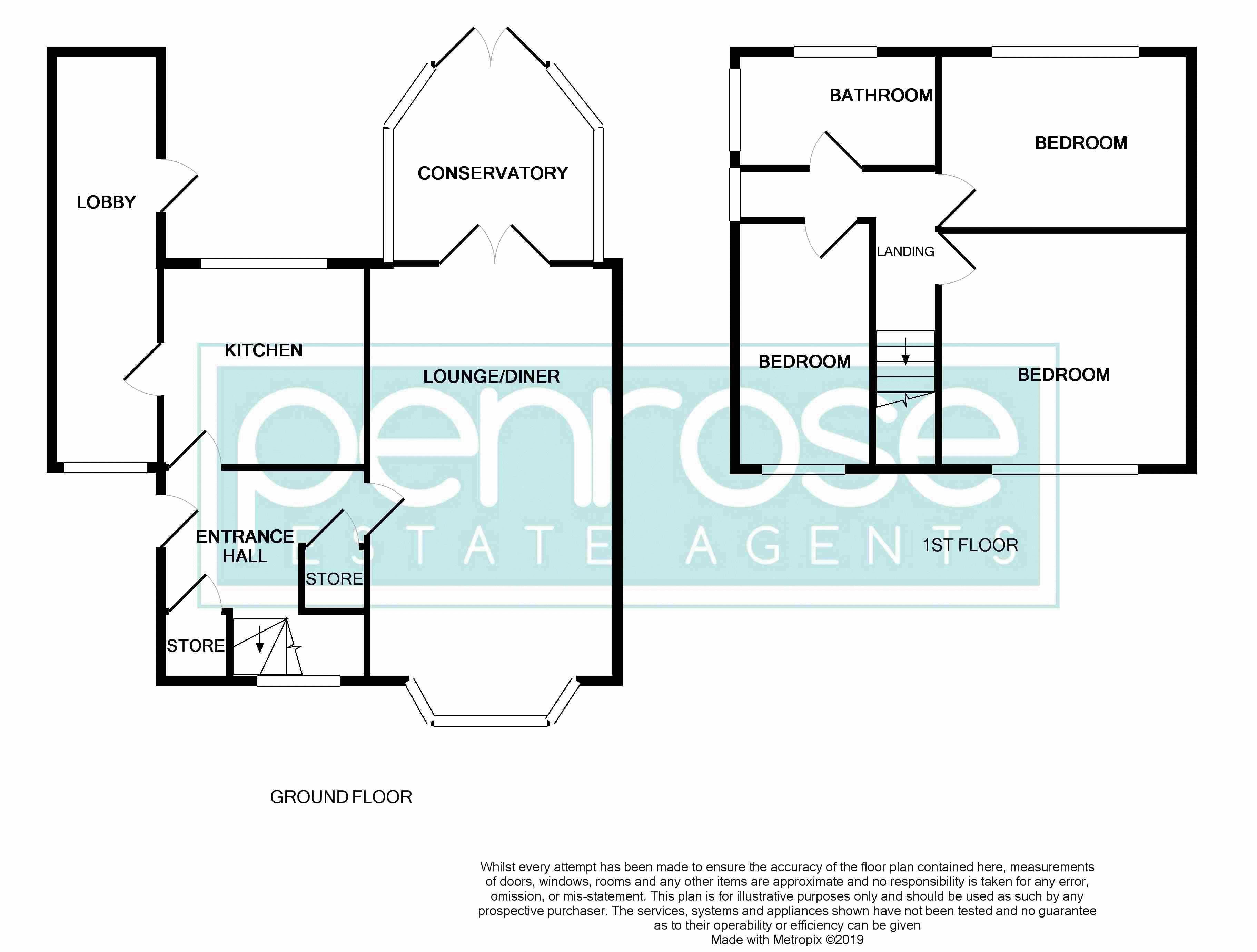 3 bedroom Semi-Detached  to buy in Cowridge Crescent, Luton Floorplan