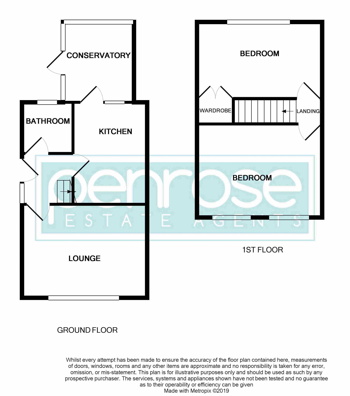 2 bedroom Semi-Detached  to buy in Peartree Road, Luton Floorplan