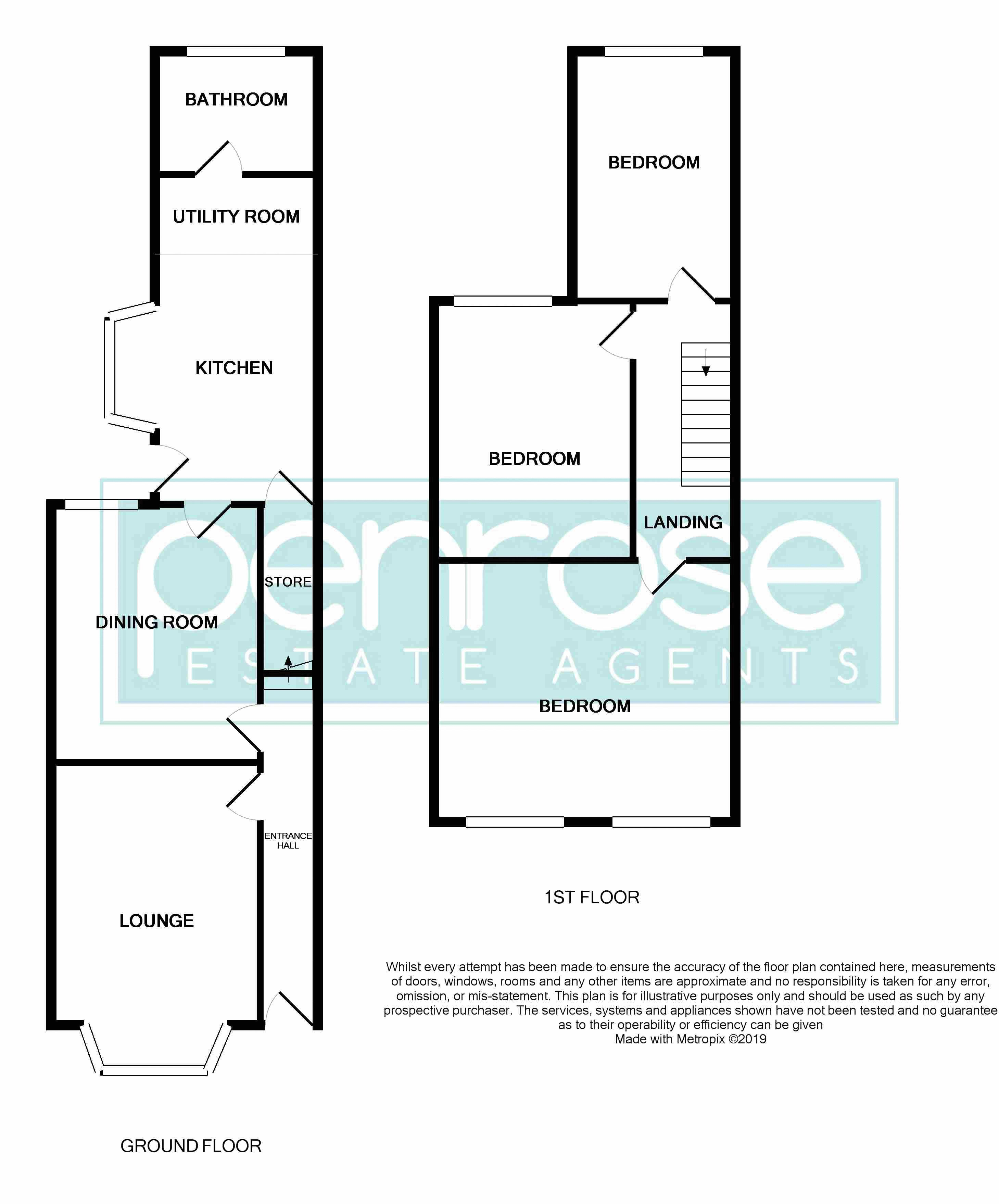 3 bedroom Mid Terrace to buy in Dallow Road, Luton Floorplan