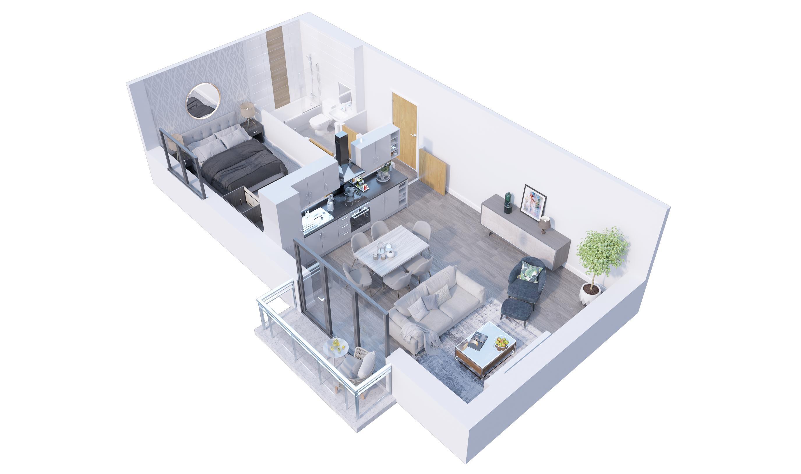 1 bedroom  to buy in Stockwood Gardens, Newlands Road,, Luton