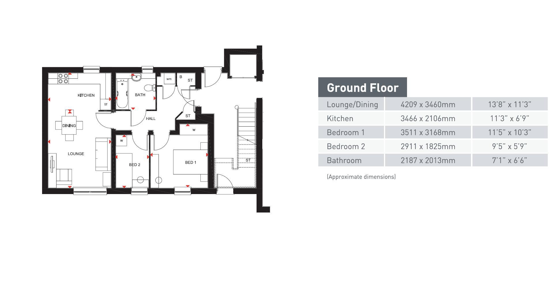 2 bedroom  to buy in Southern Cross, Bedford