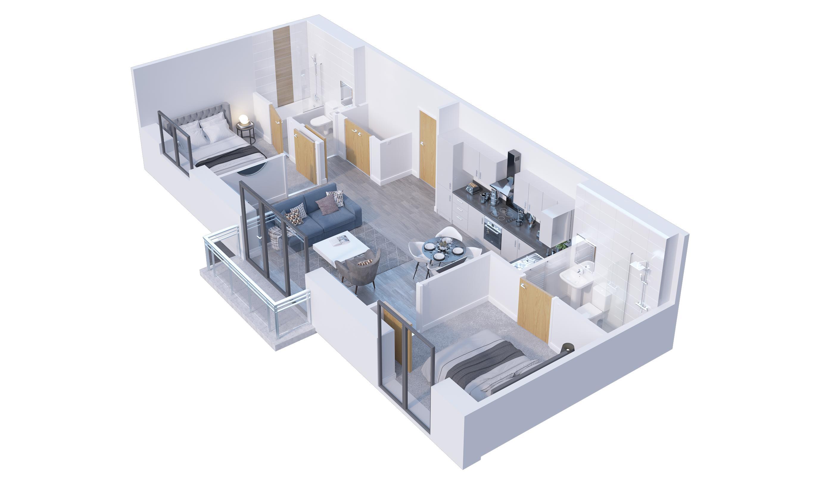 2 bedroom Flat to buy in Stockwood Gardens, Luton
