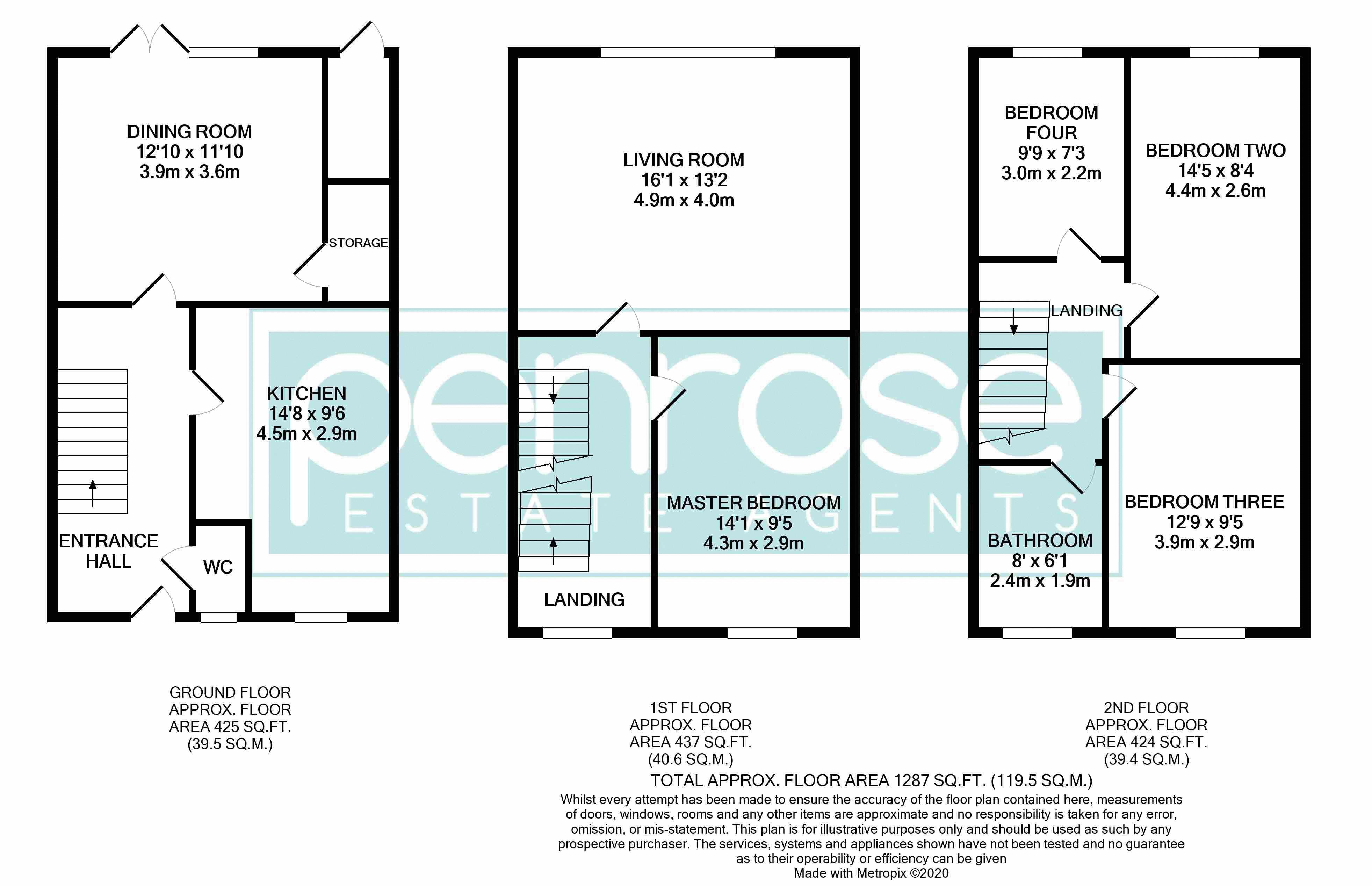 4 bedroom Mid Terrace to buy in Chelsea Gardens, Dunstable