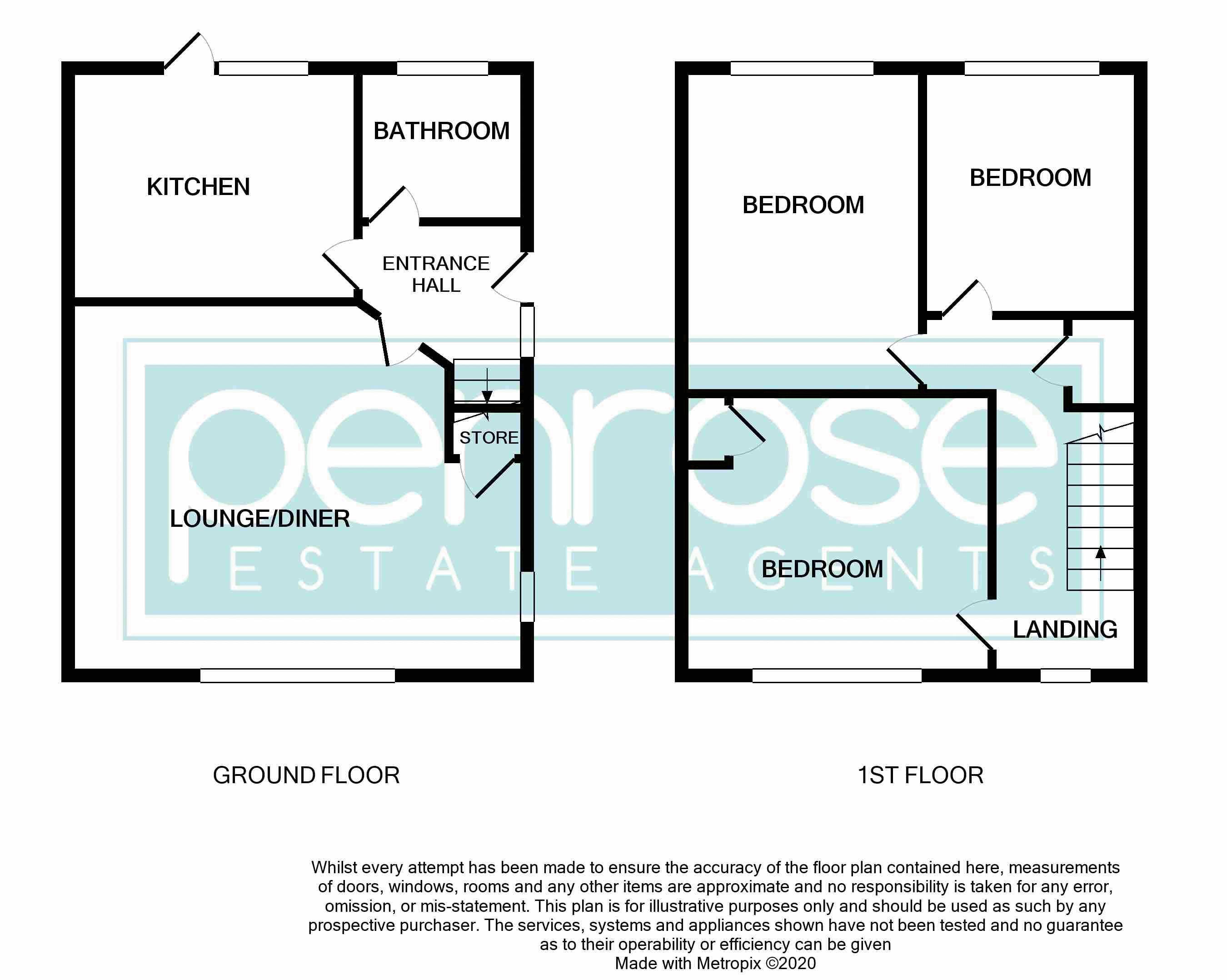 3 bedroom Semi-Detached  to buy in Gresham Close, Luton Floorplan
