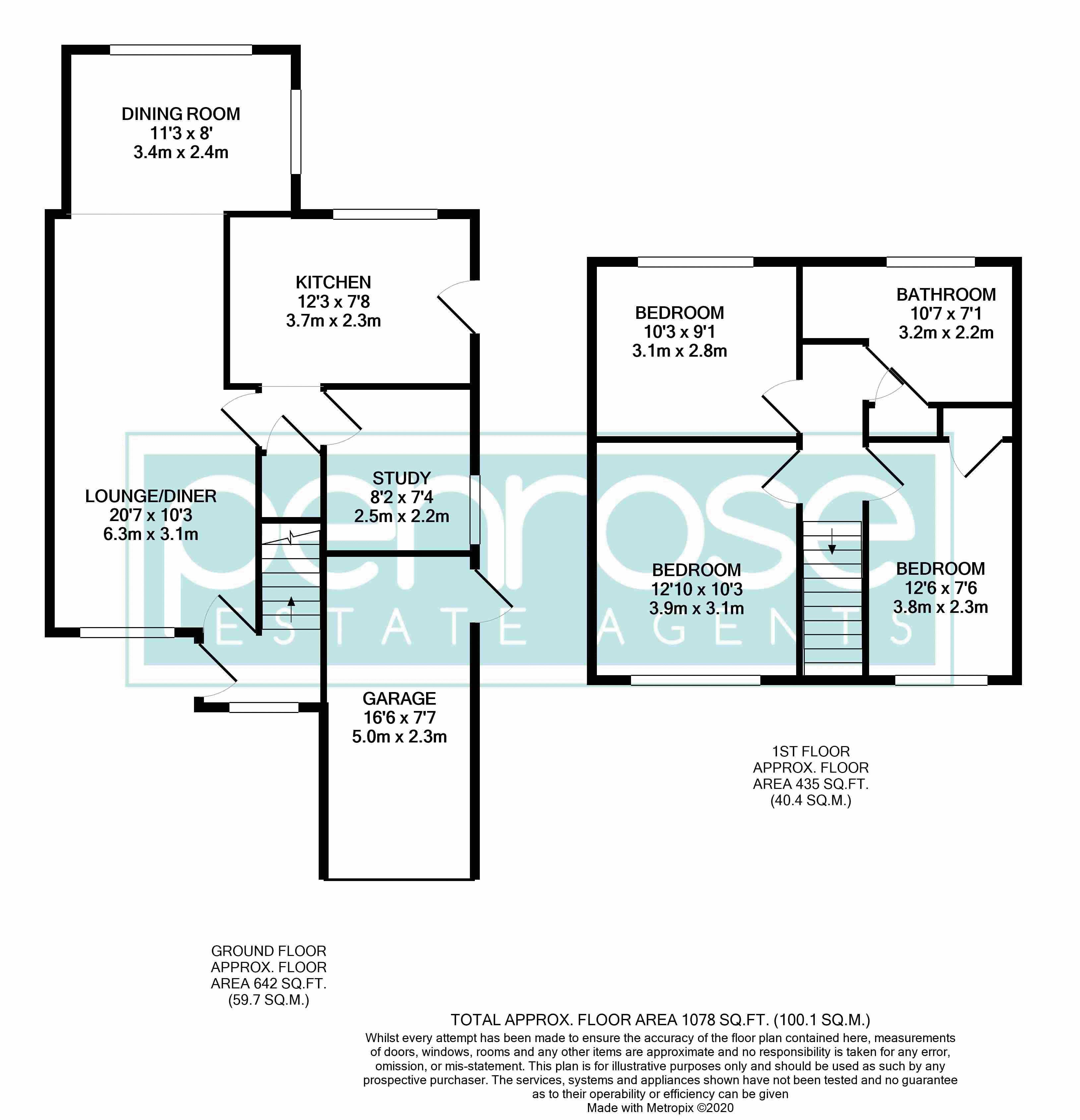 3 bedroom Semi-Detached  to rent in Ross Way, Luton Floorplan