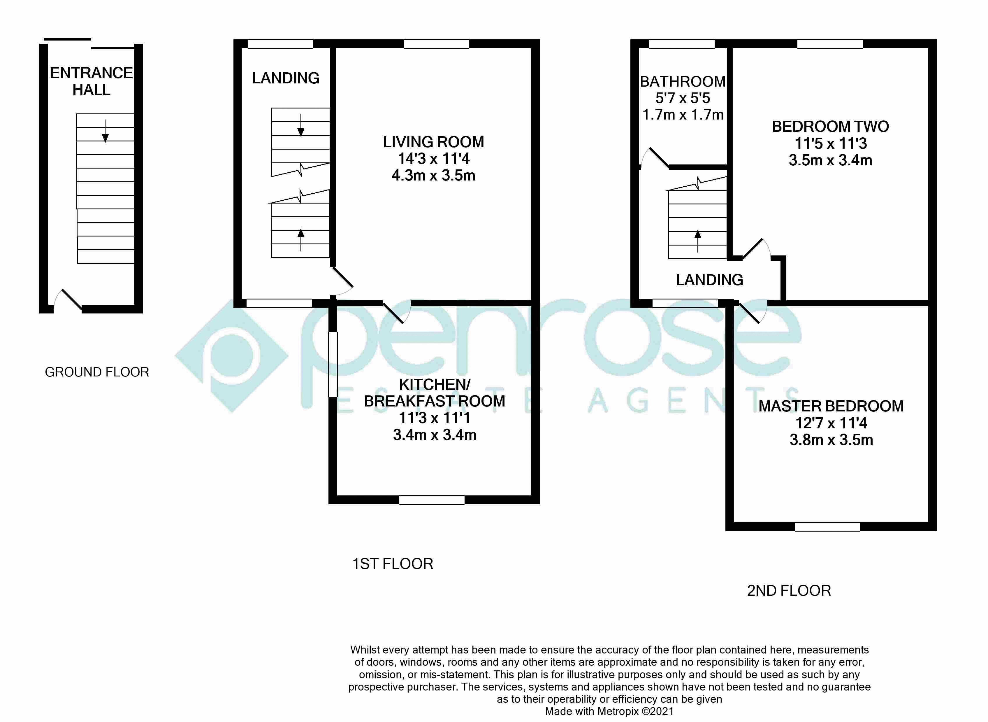 2 bedroom Maisonette to buy in Brendon Avenue, Luton