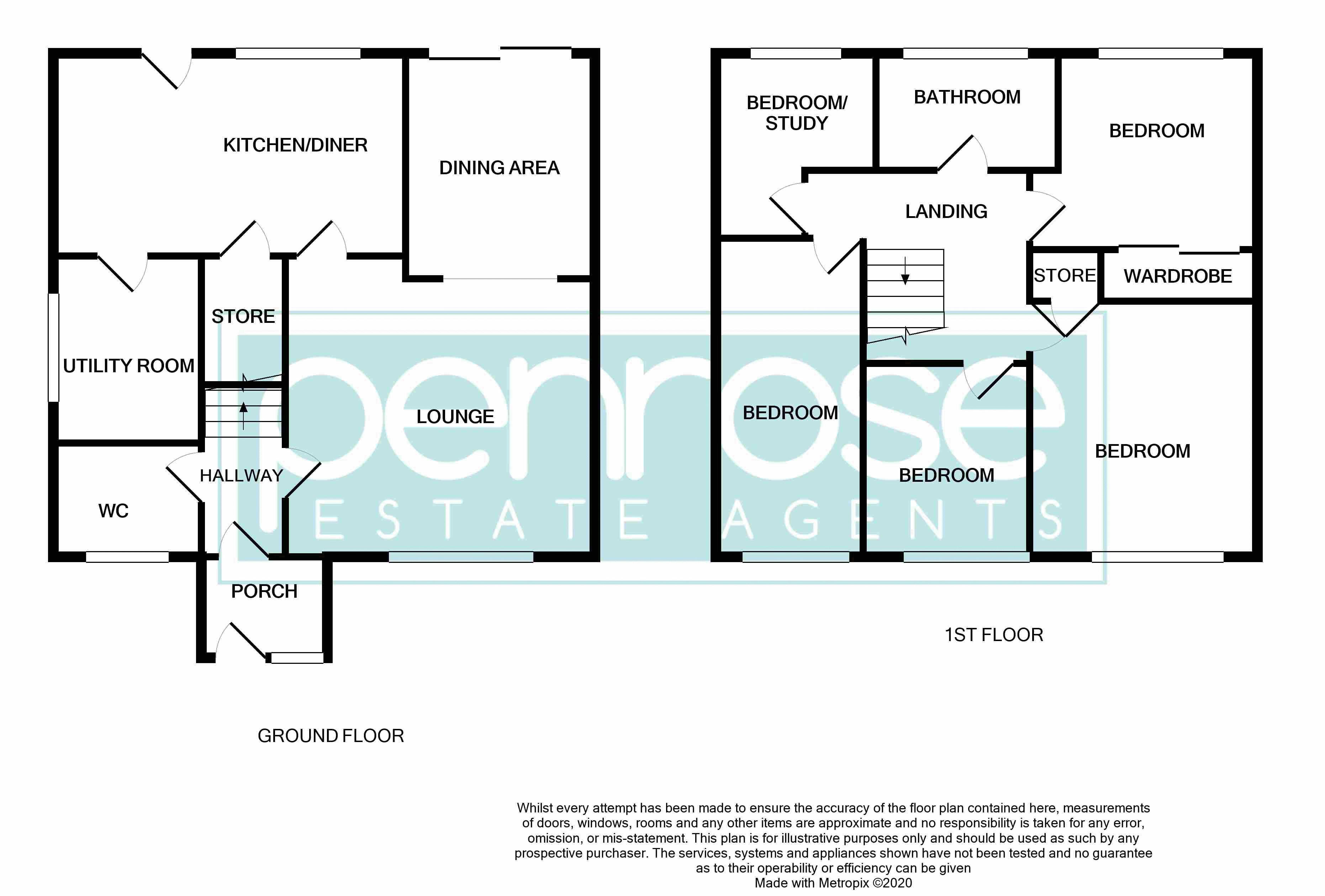 4 bedroom Semi-Detached  to buy in Redgrave Gardens, Luton Floorplan
