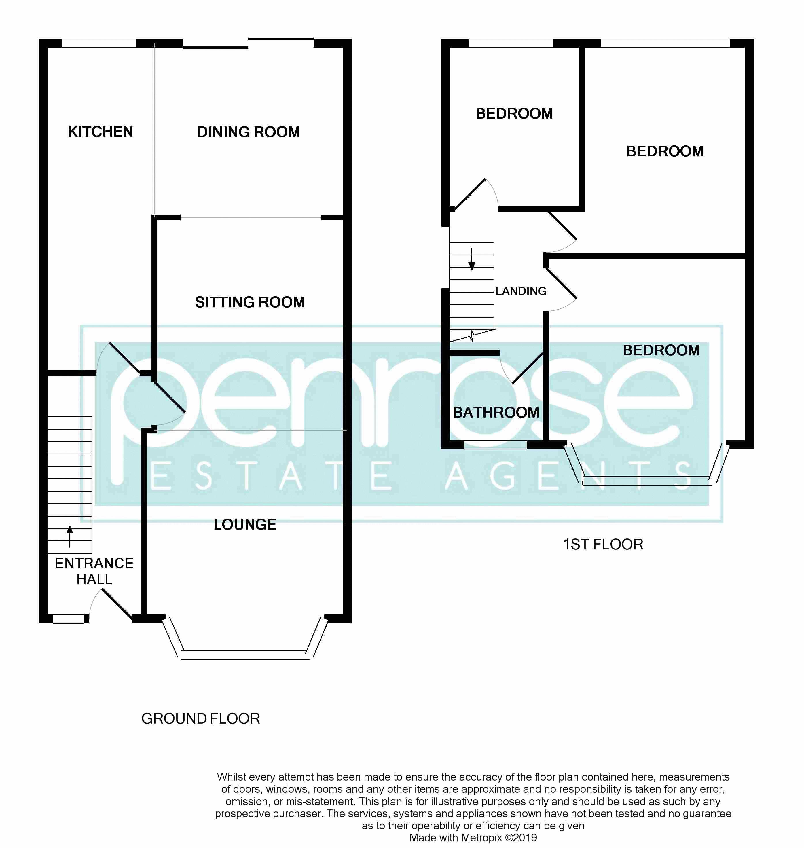 3 bedroom Semi-Detached  to buy in Alton Road, Luton Floorplan
