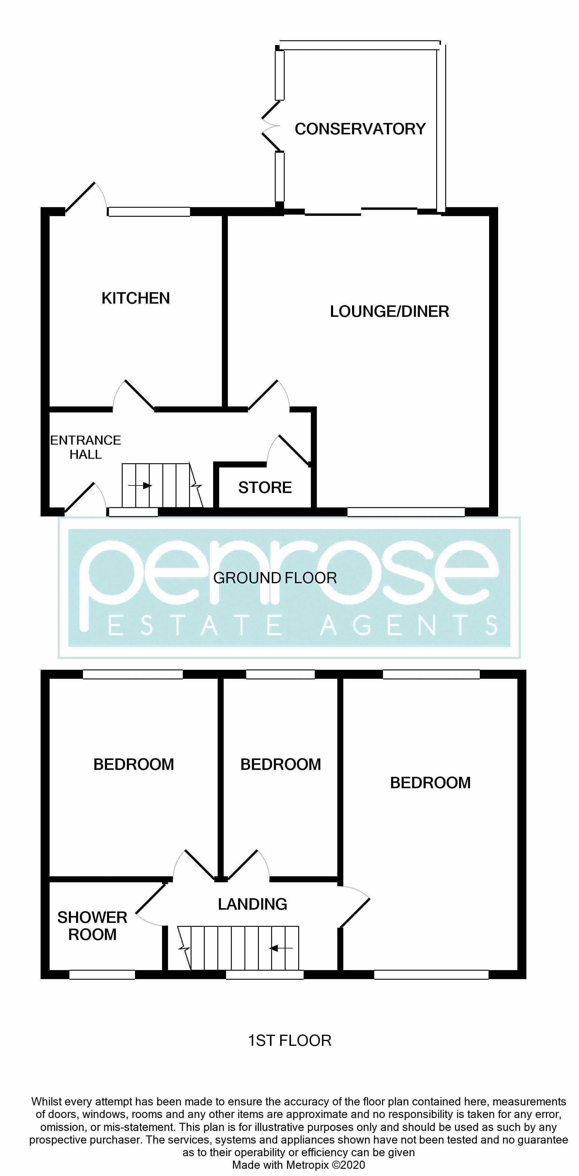 3 bedroom Mid Terrace to buy in Taunton Avenue, Luton Floorplan