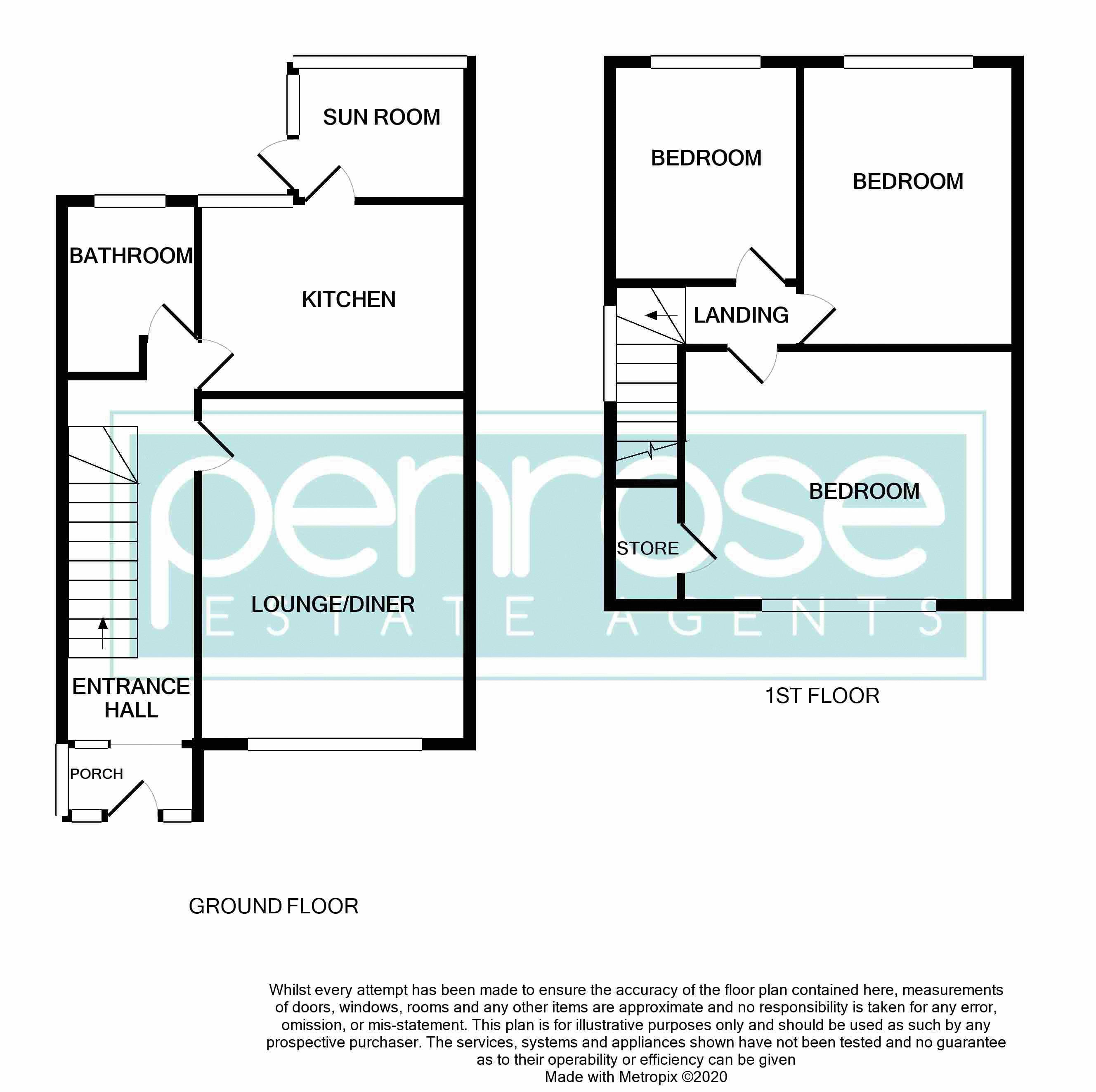 3 bedroom Semi-Detached  to buy in Chesford Road, Luton Floorplan