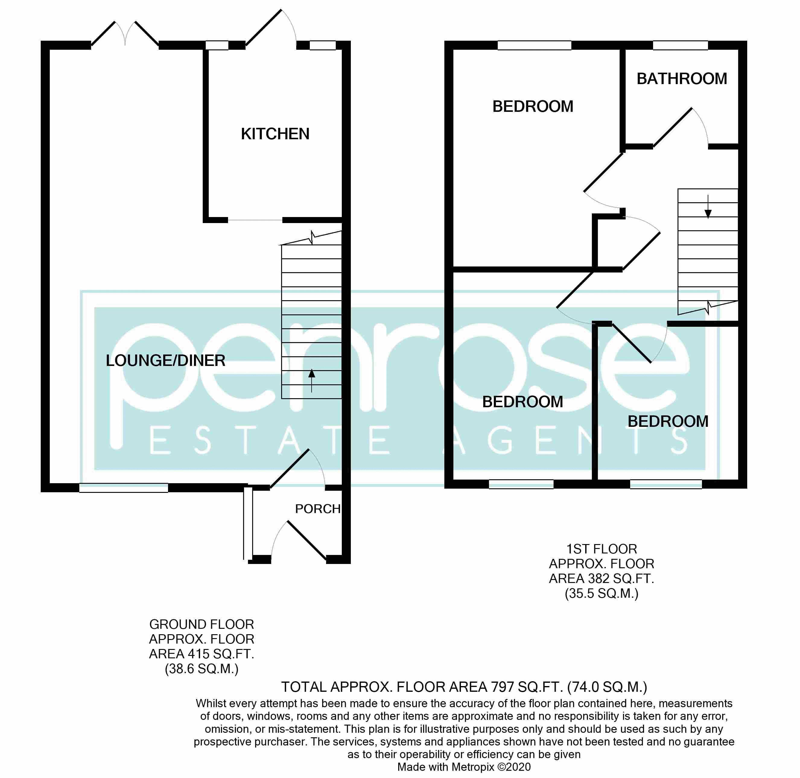 3 bedroom Semi-Detached  to buy in Oving Close, Luton Floorplan
