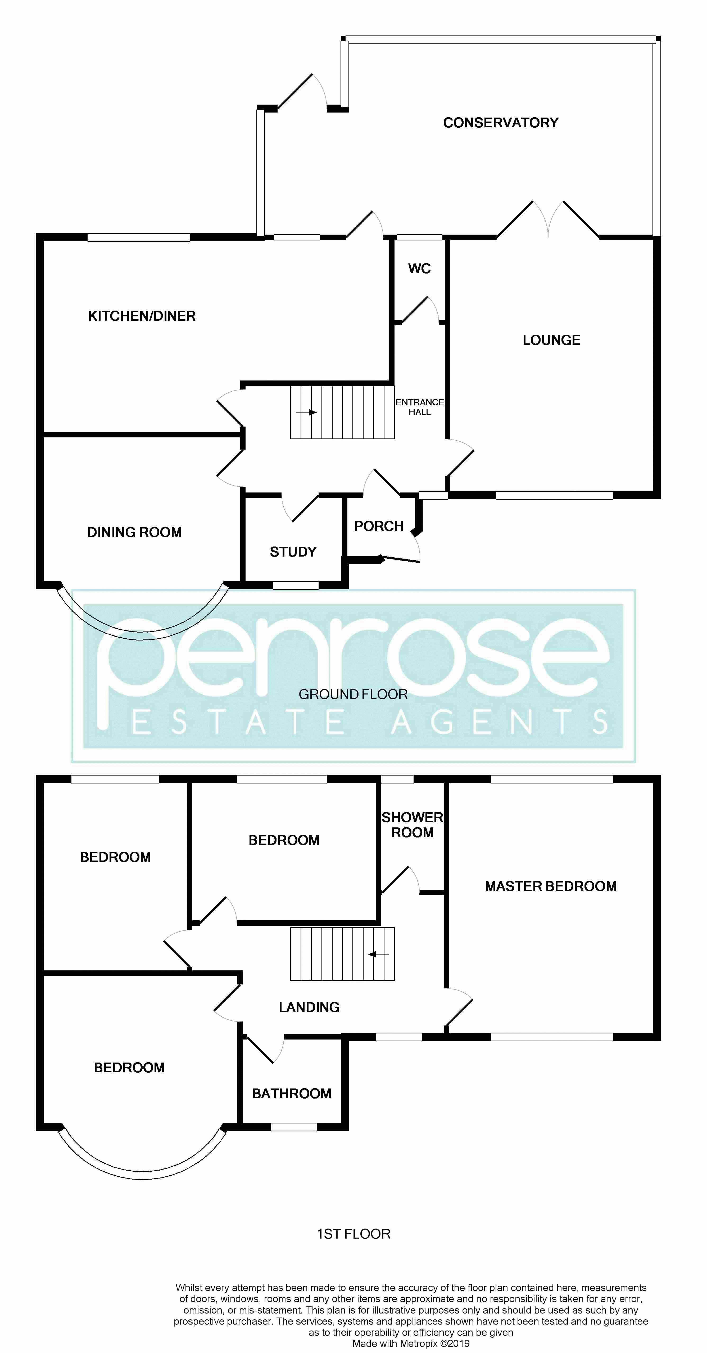 4 bedroom Semi-Detached  to buy in Barton Road, Luton Floorplan