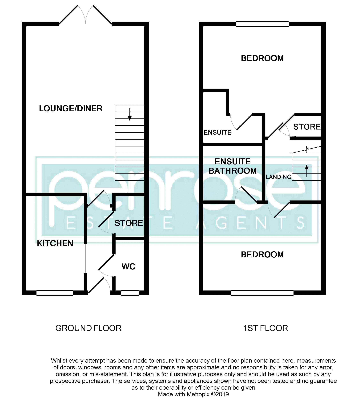 2 bedroom End Terrace to buy in Linden Road, Luton Floorplan