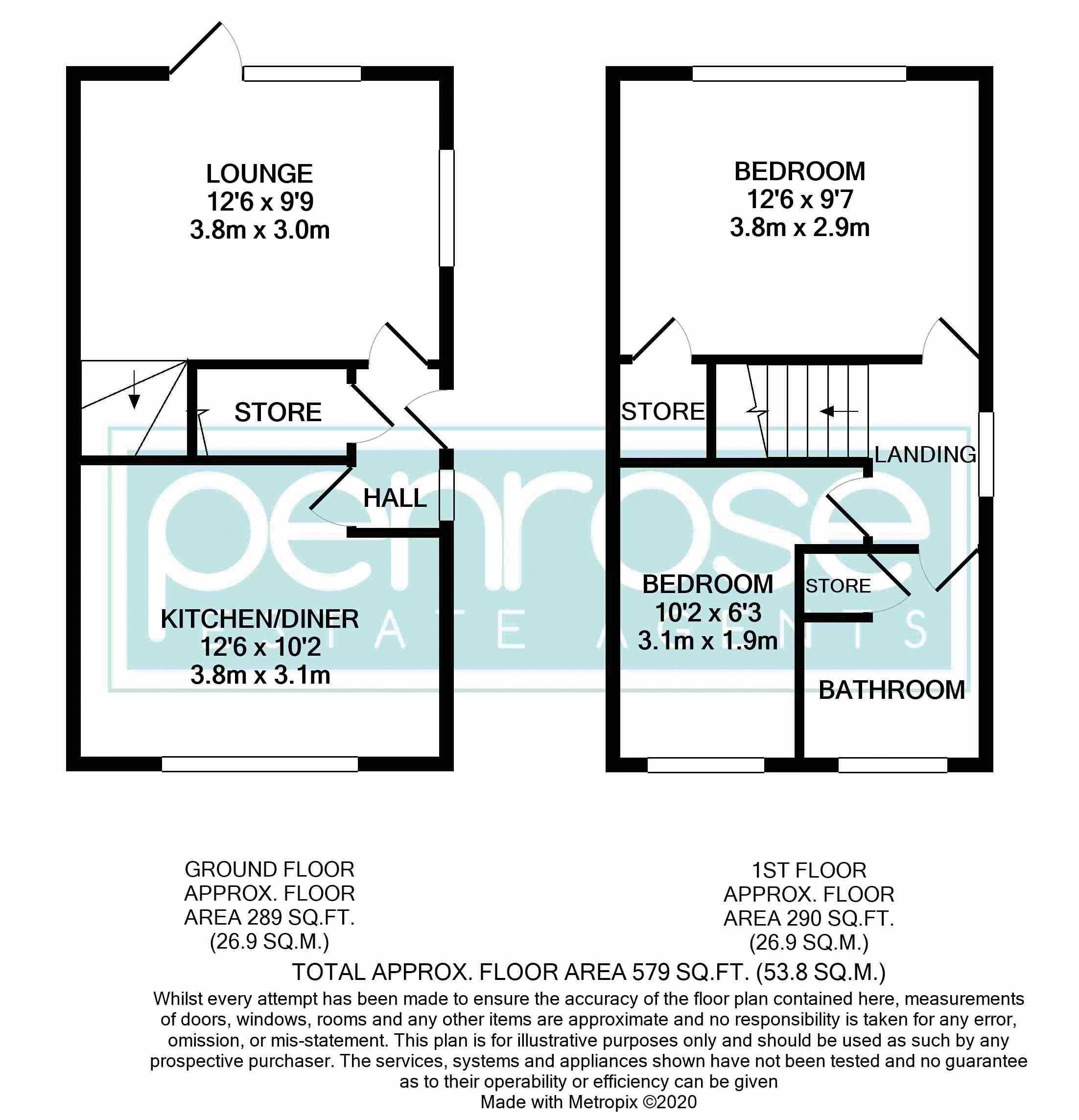 2 bedroom Semi-Detached  to buy in Peregrine Road, Luton Floorplan