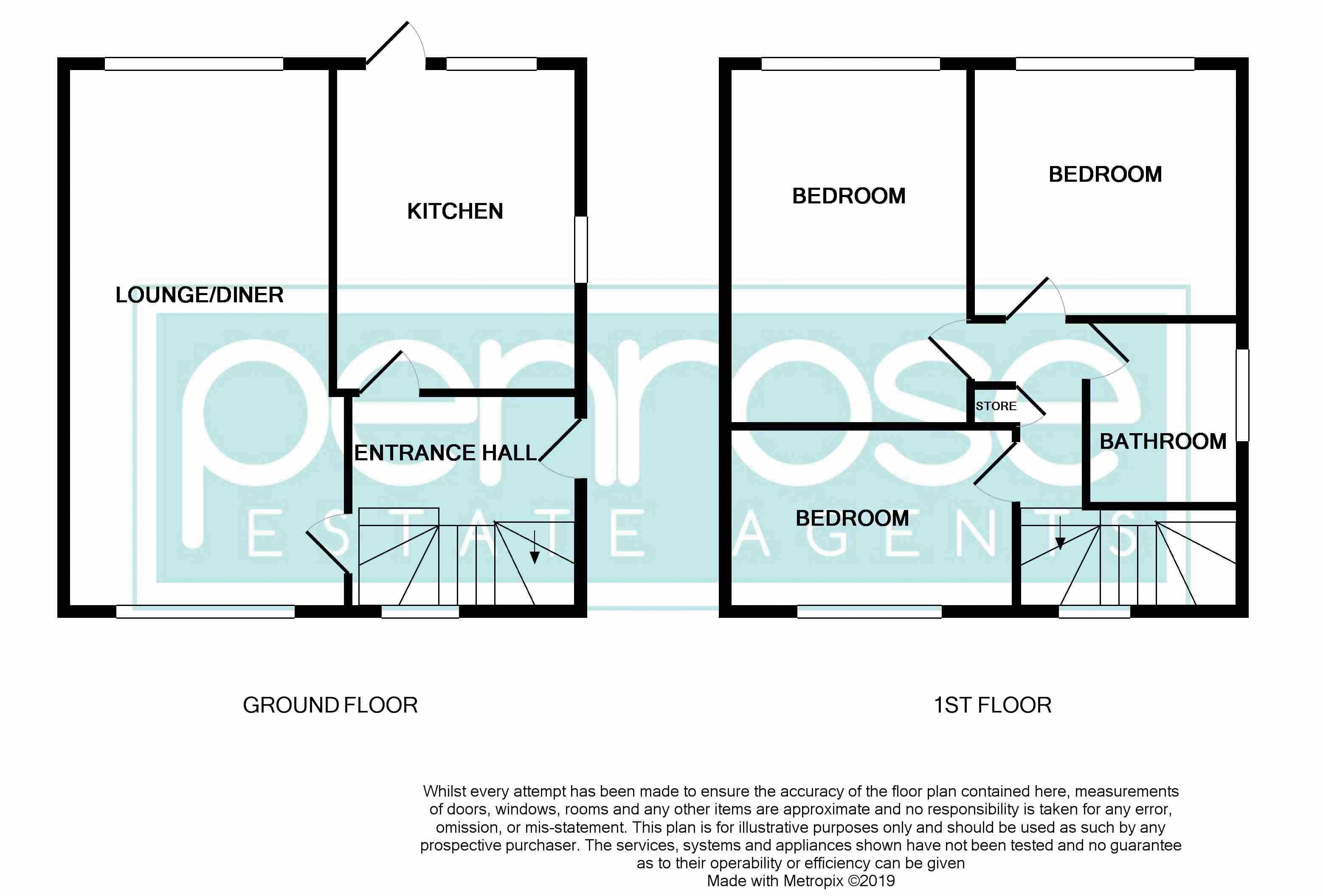 3 bedroom Semi-Detached  to buy in Hollybush Road, Luton Floorplan