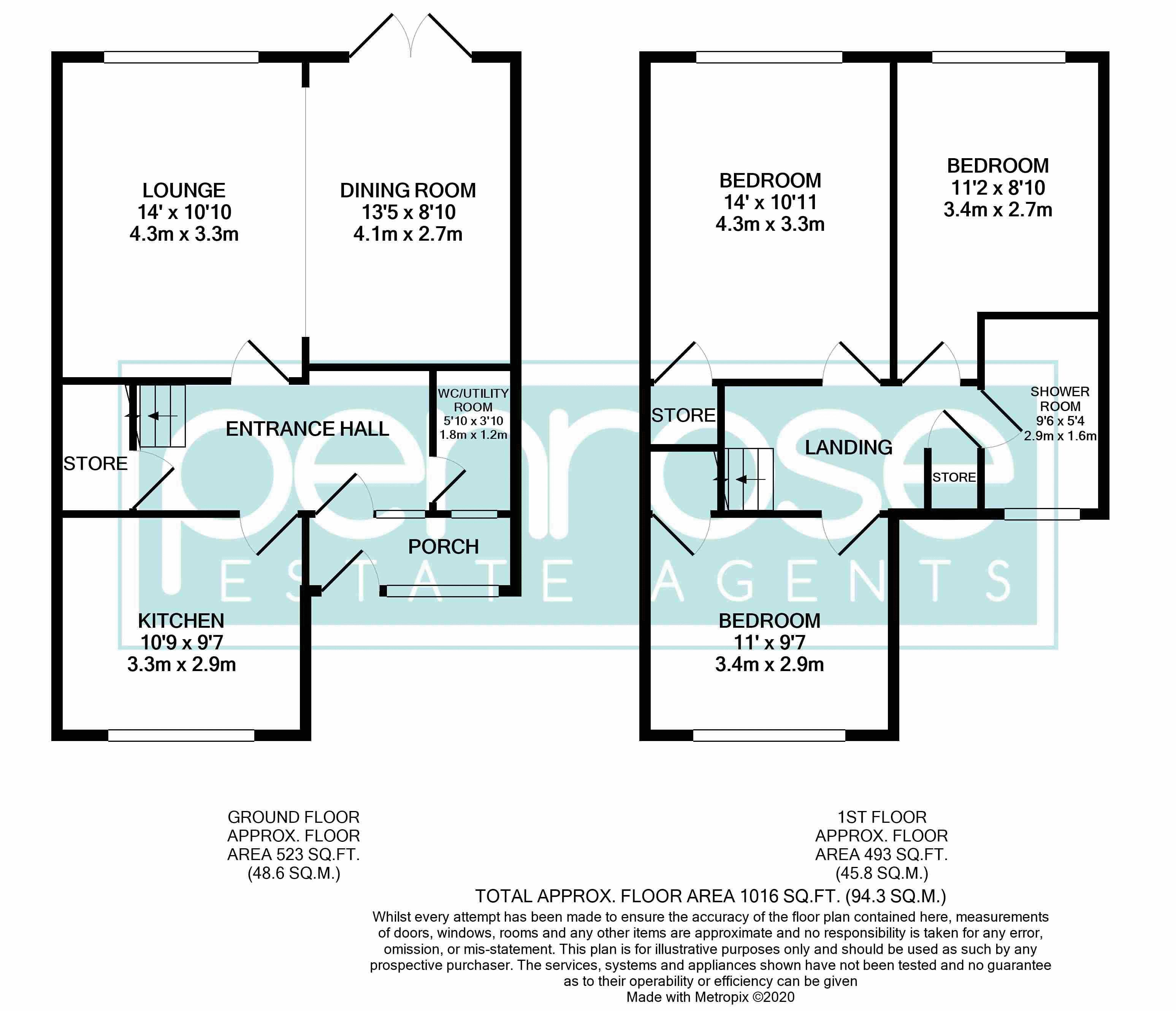 3 bedroom Mid Terrace to buy in Telscombe Way, Luton Floorplan