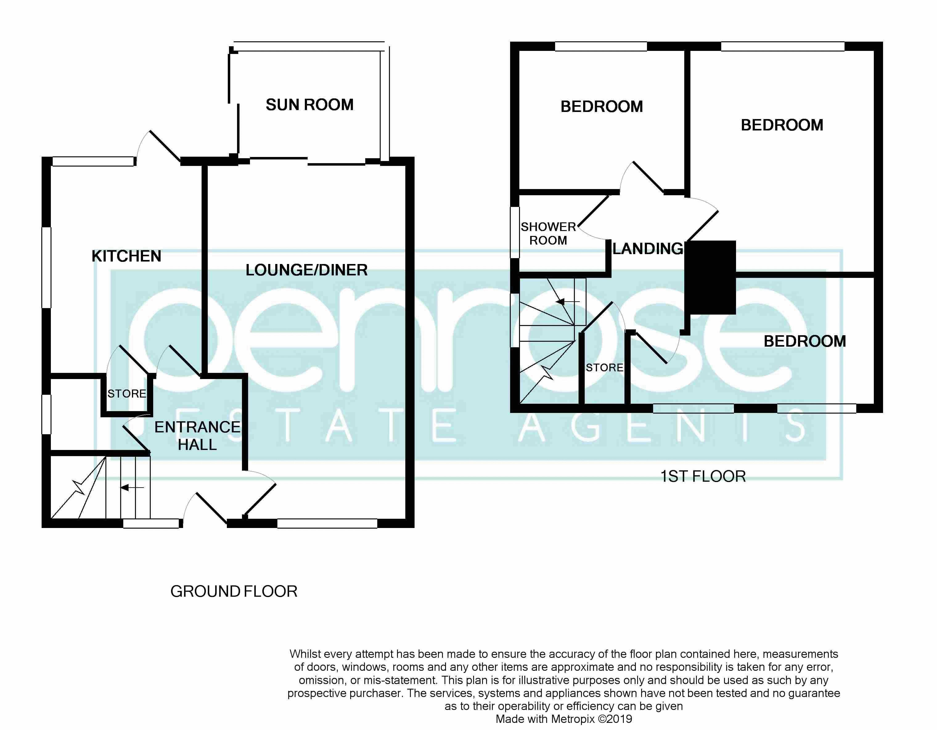 3 bedroom Semi-Detached  to buy in Dewsbury Road, Luton Floorplan