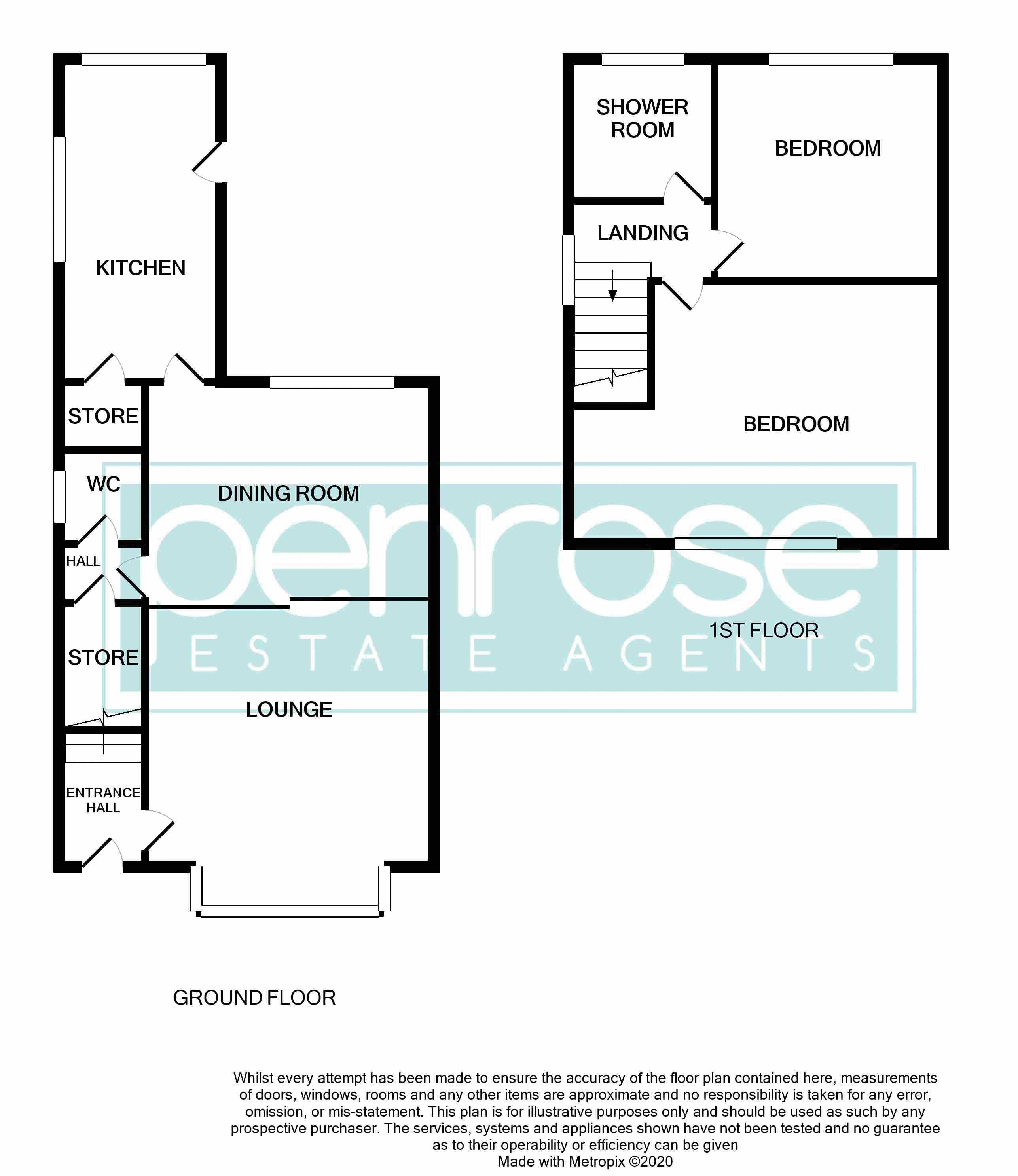 2 bedroom Semi-Detached  to buy in Windermere Crescent, Luton Floorplan