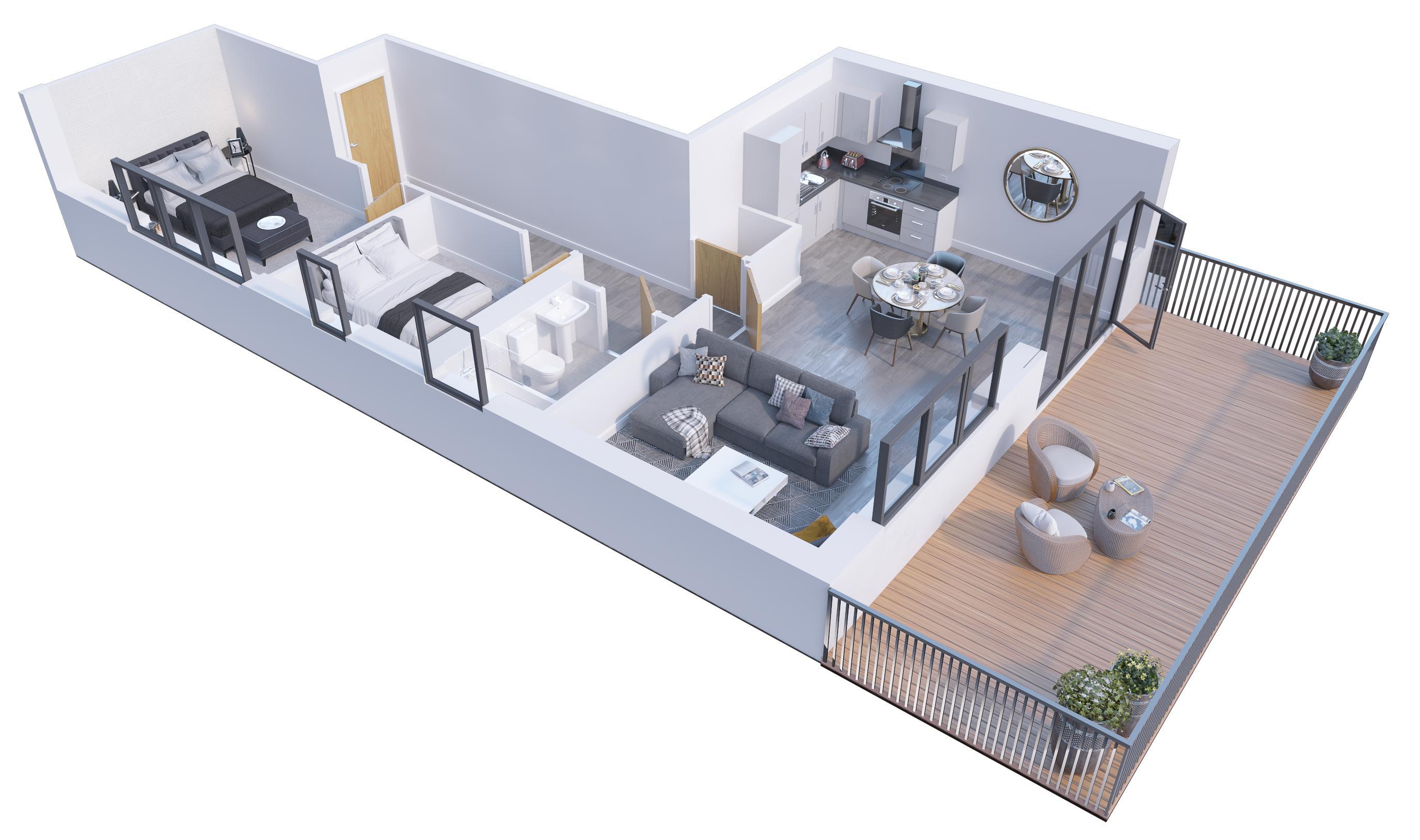 2 bedroom Apartment / Studio to buy in Stockwood Gardens, Newlands Road, Luton