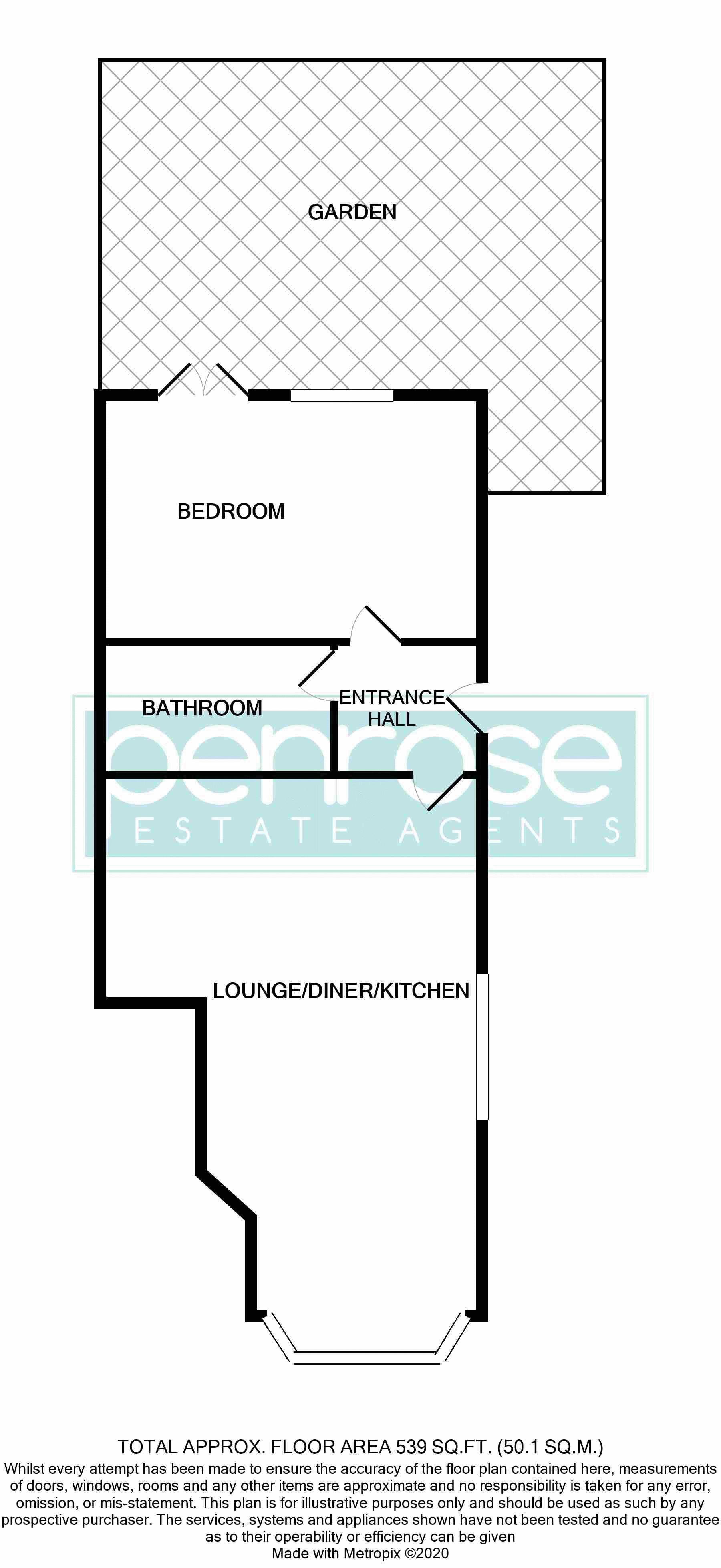 1 bedroom Maisonette to buy in Catsbrook Road, Luton Floorplan