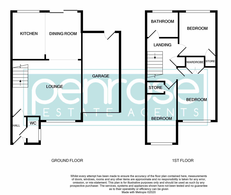 3 bedroom Semi-Detached  to buy in Pomeroy Grove, Luton Floorplan