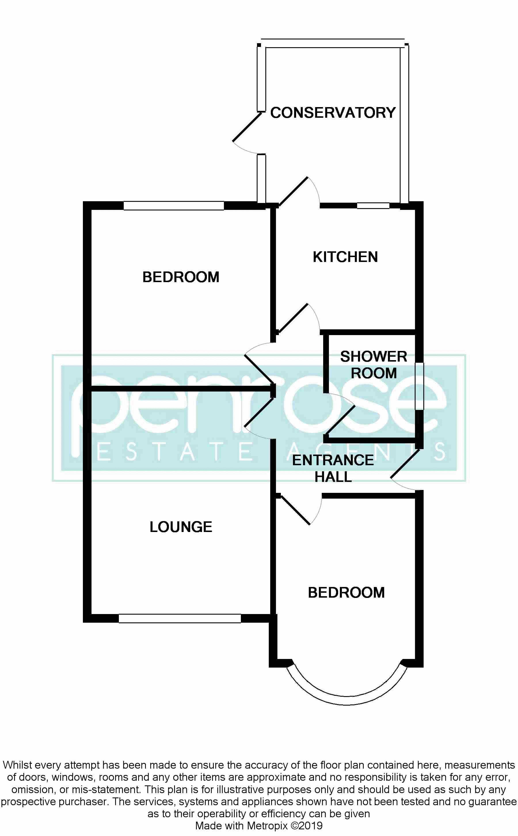 2 bedroom Bungalow to buy in Hathaway Close, Luton Floorplan