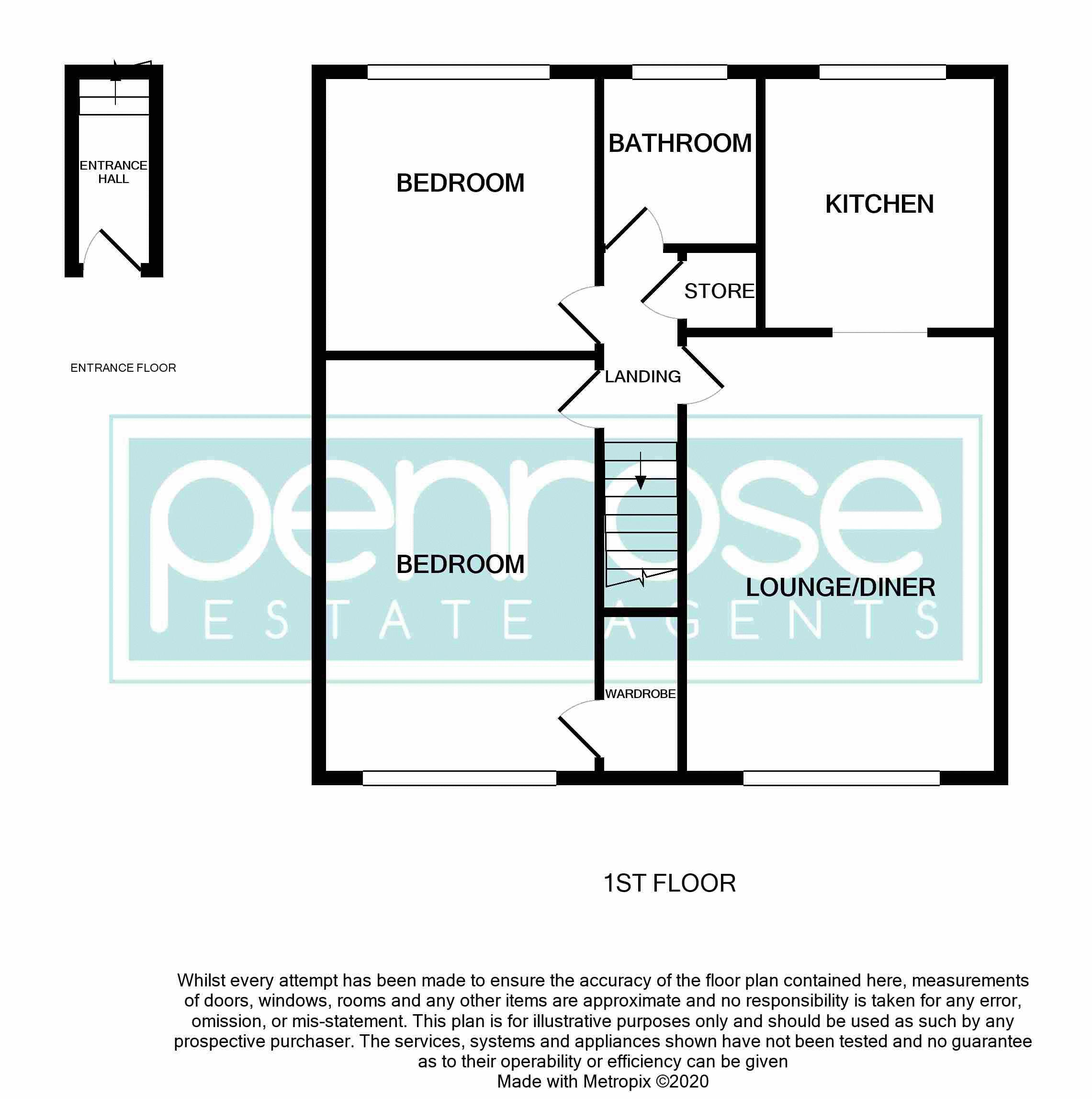 2 bedroom Maisonette to rent in Campania Grove, Luton Floorplan