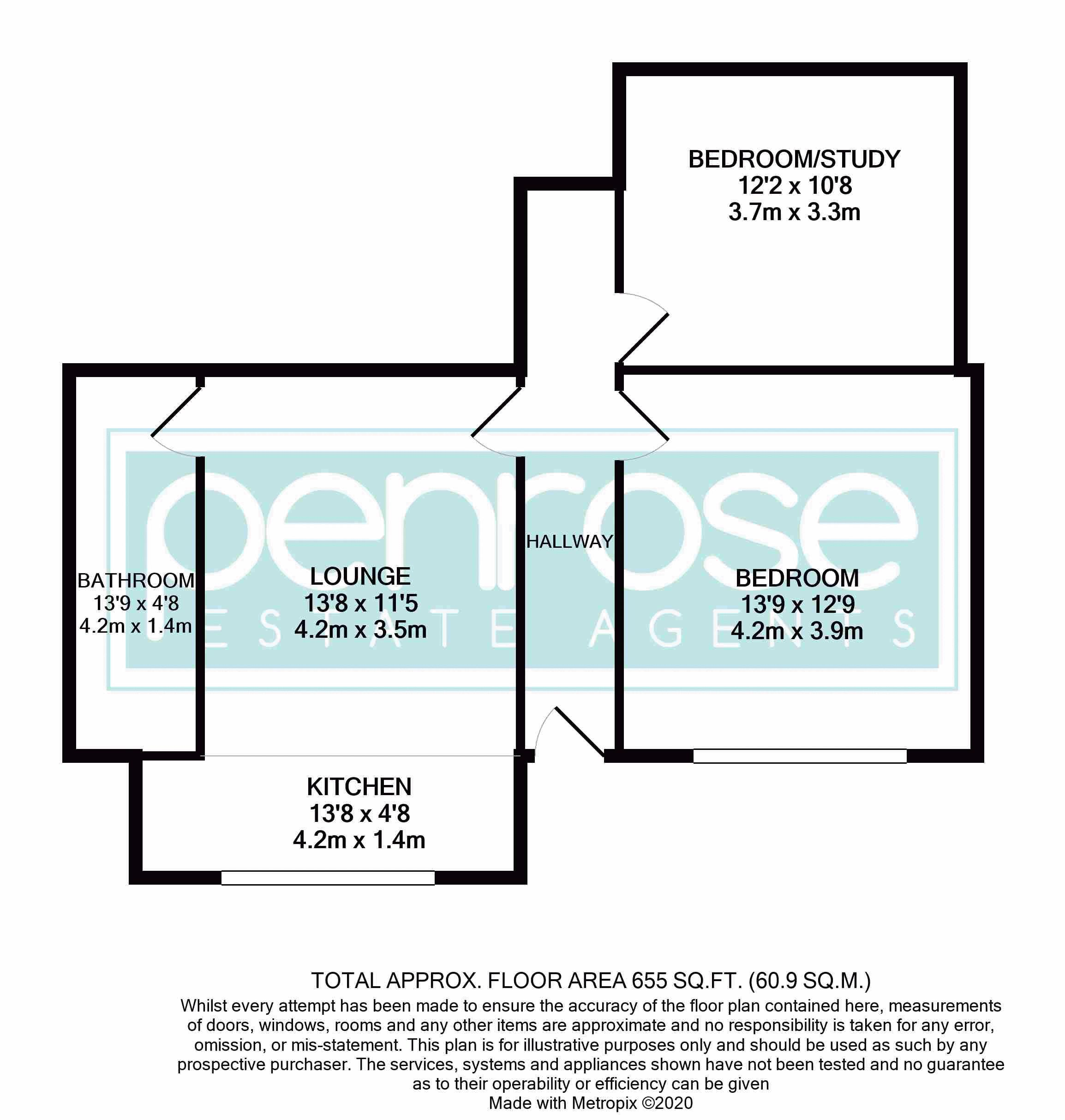 1 bedroom Maisonette to buy in New Bedford Road, Luton Floorplan