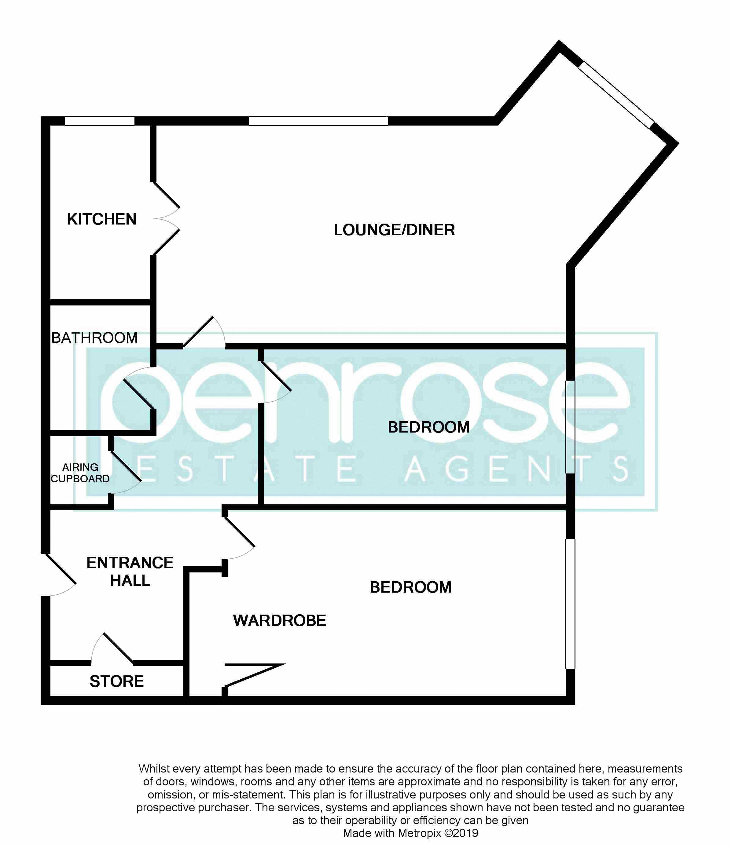 2 bedroom Retirement to buy in Lucas Gardens, Luton Floorplan