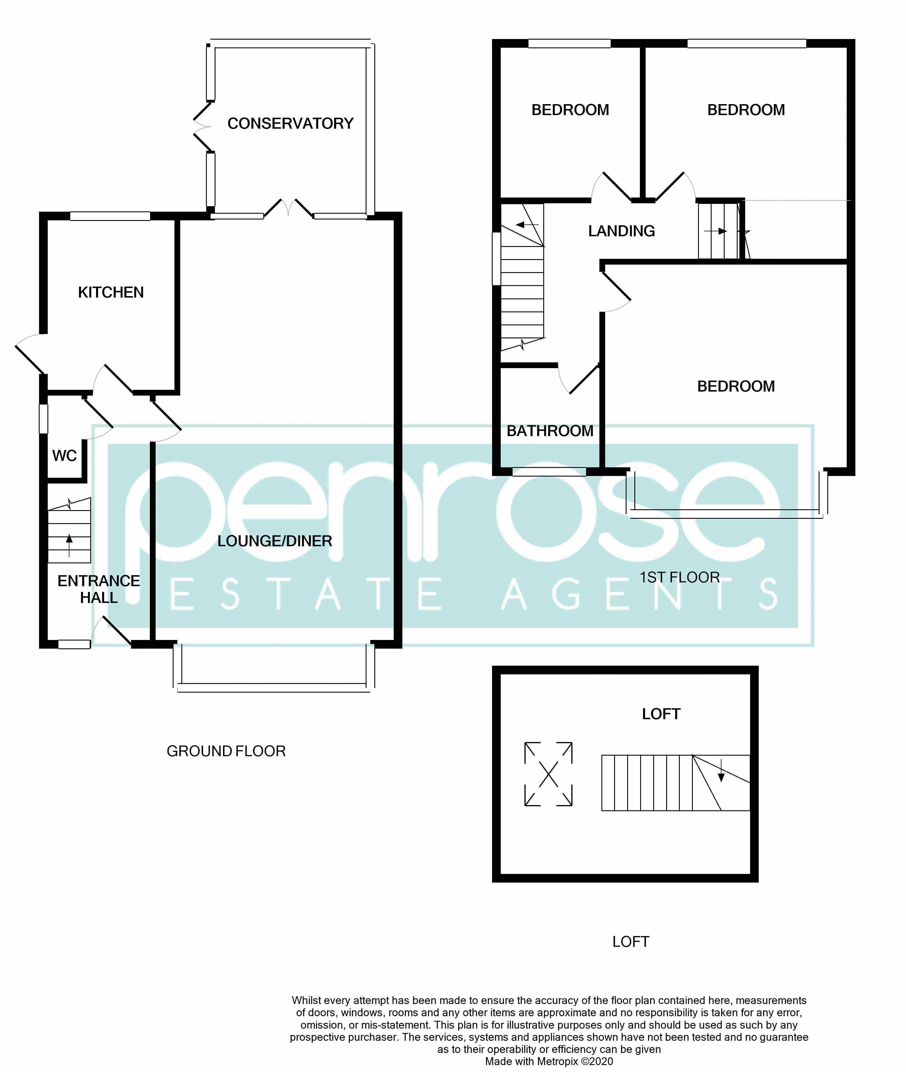 3 bedroom Semi-Detached  to buy in Silecroft Road, Luton Floorplan