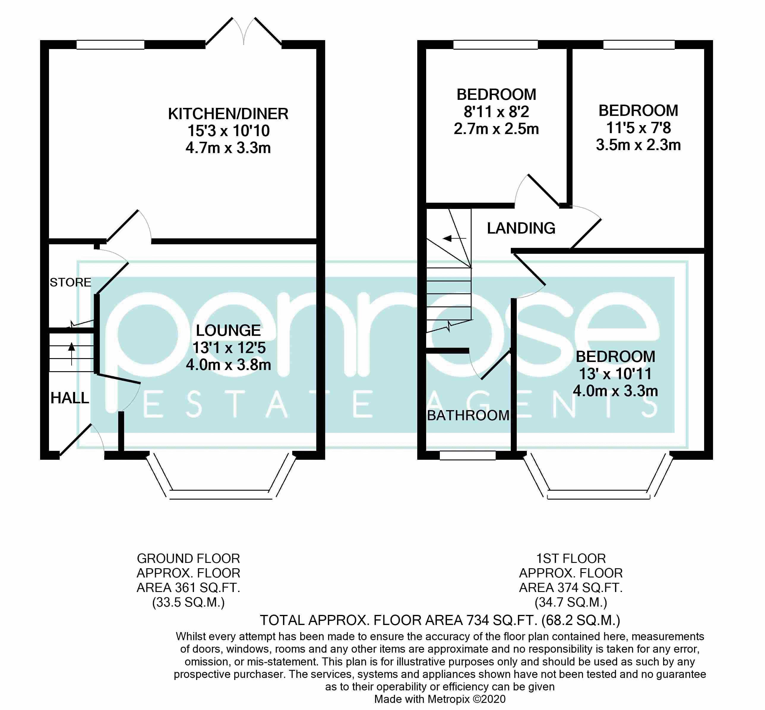 3 bedroom Mid Terrace to buy in Neville Road, Luton Floorplan