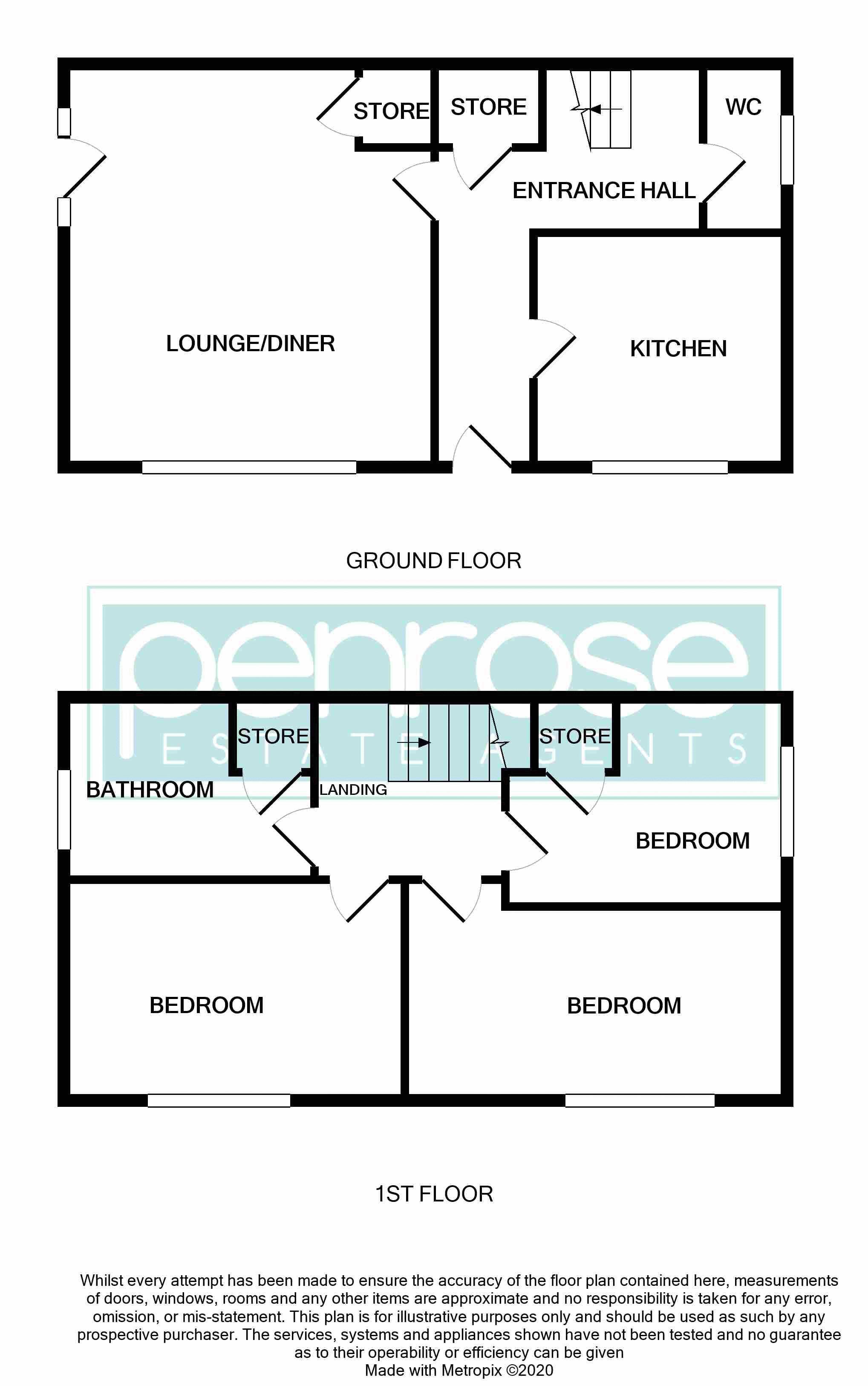 3 bedroom Semi-Detached  to buy in Hazel Grove, Bedford Floorplan