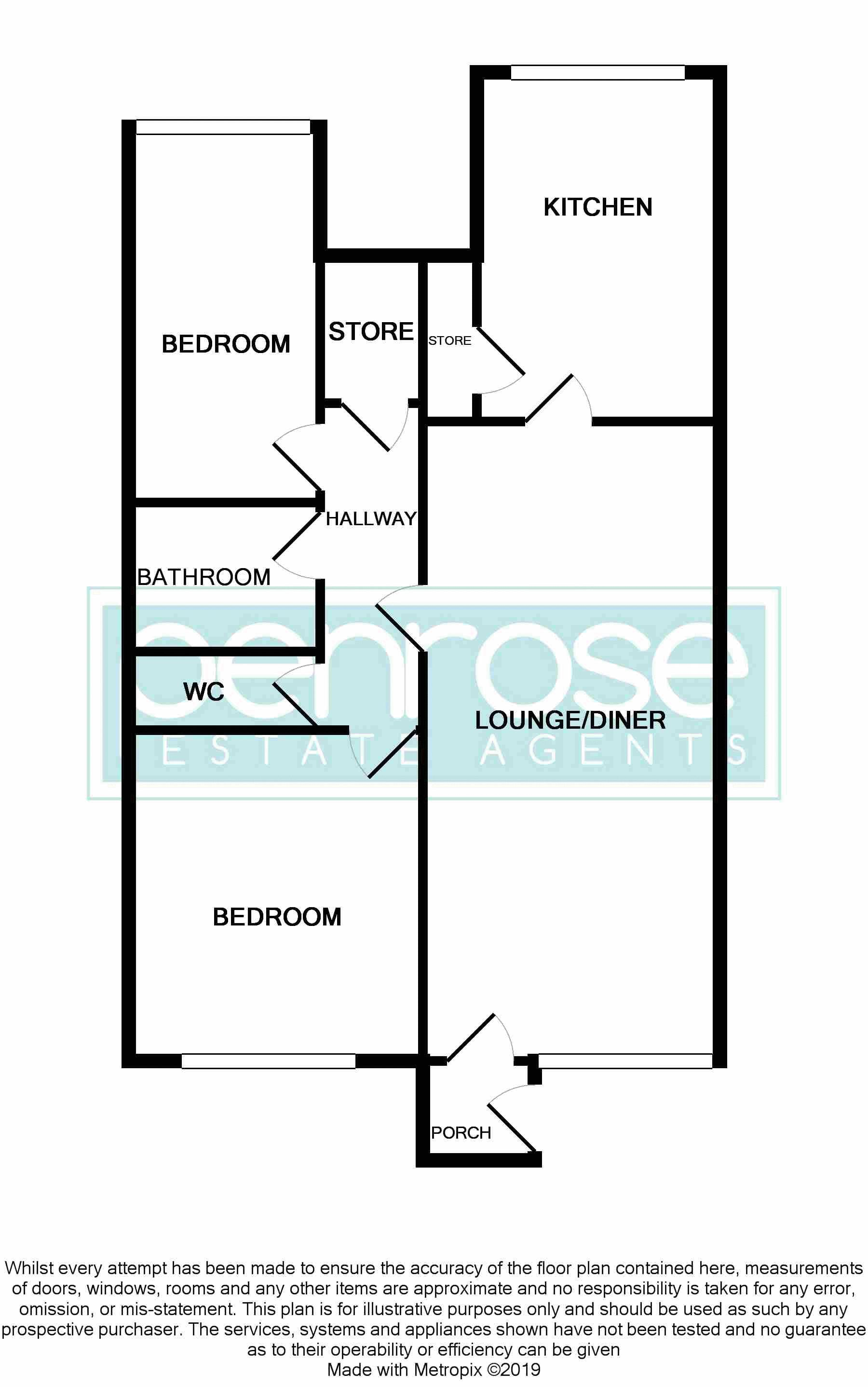 2 bedroom Maisonette to buy in Copenhagen Close, Luton Floorplan