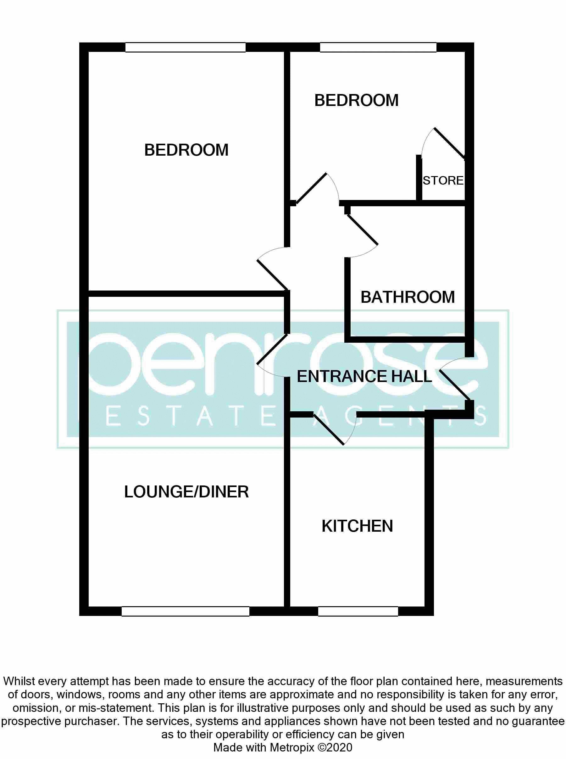2 bedroom Flat to buy in Moulton Rise, Luton Floorplan