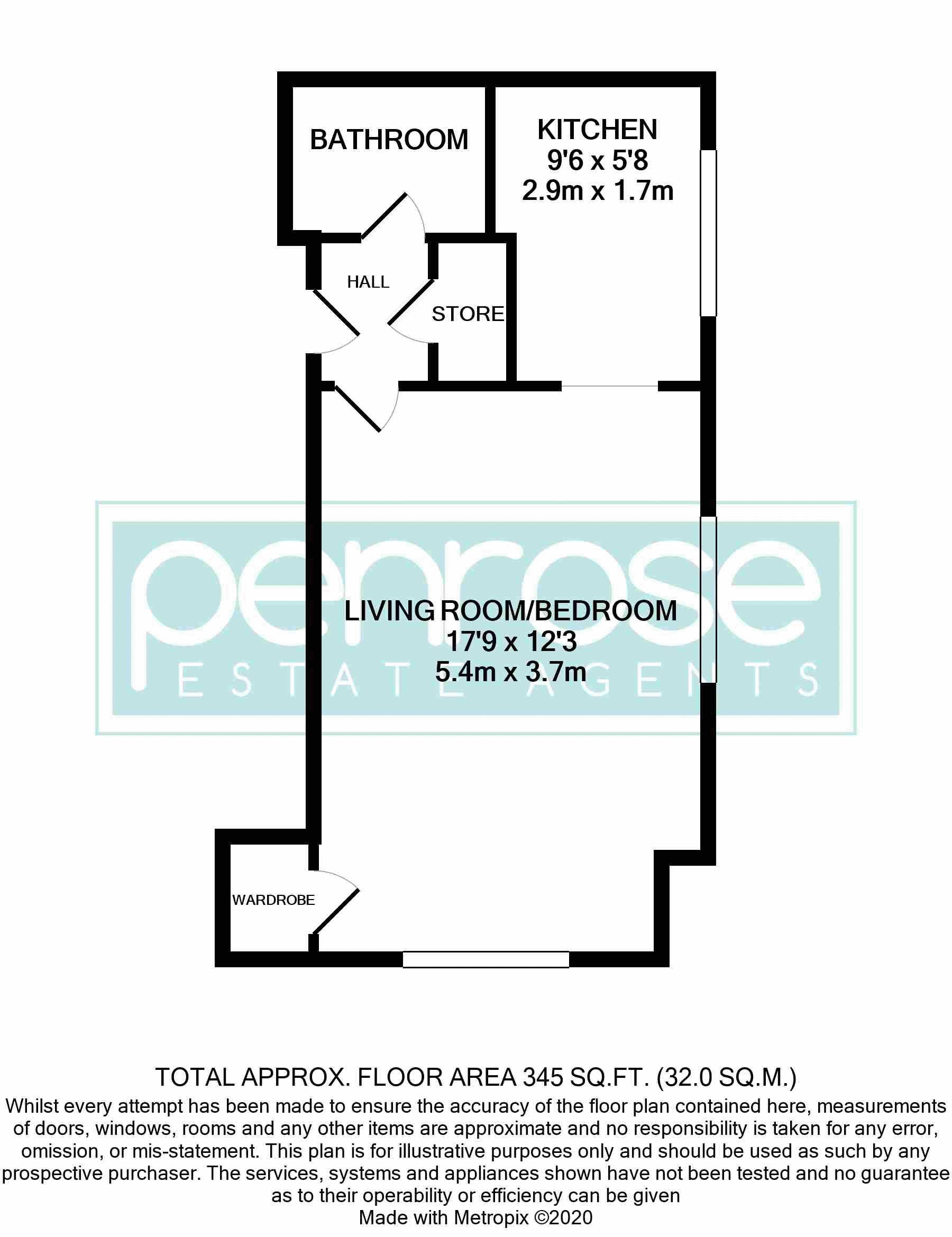 1 bedroom Apartment / Studio to buy in Skelton Close, Luton Floorplan