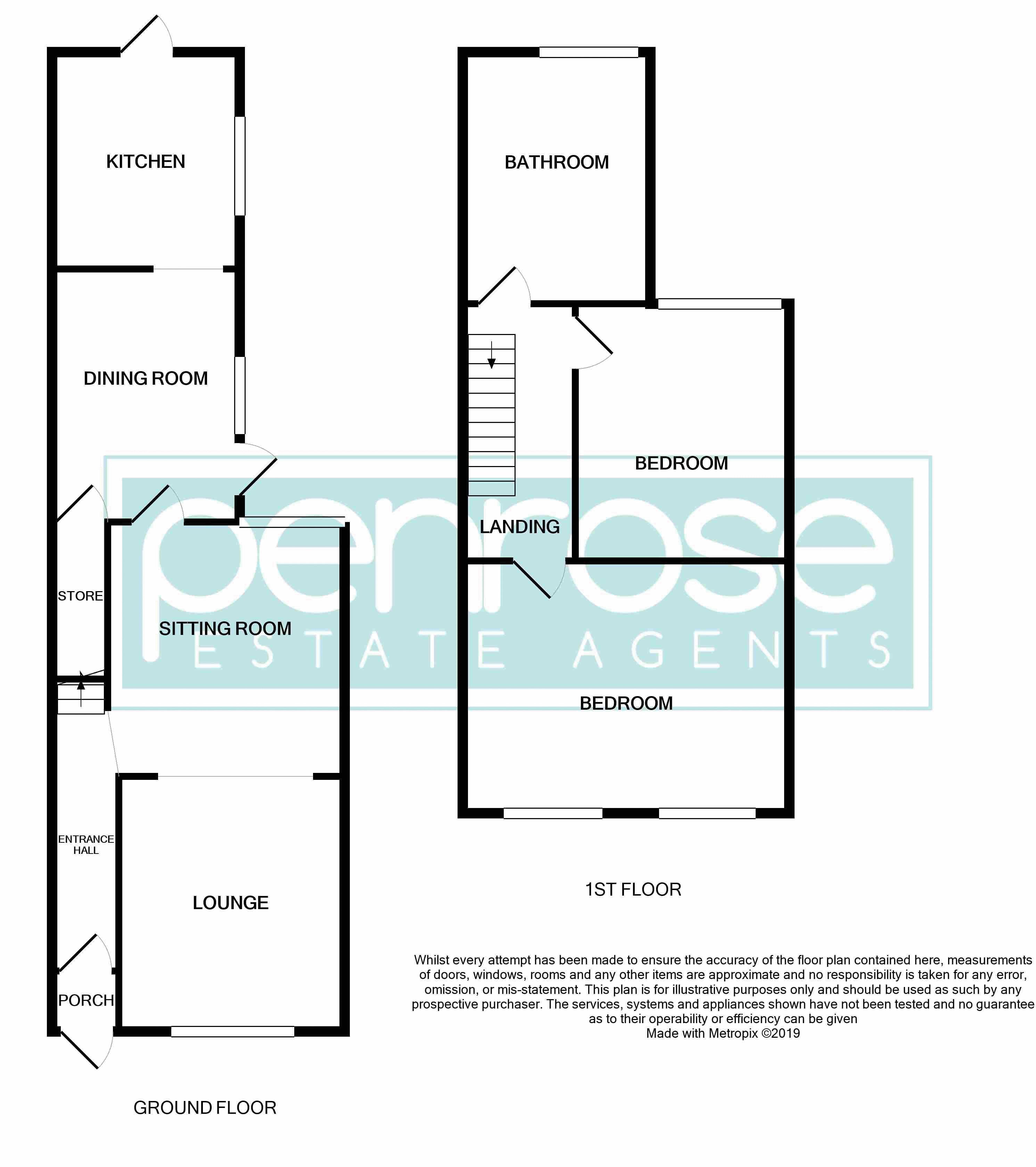 2 bedroom Mid Terrace to buy in Newcombe Road, Luton Floorplan