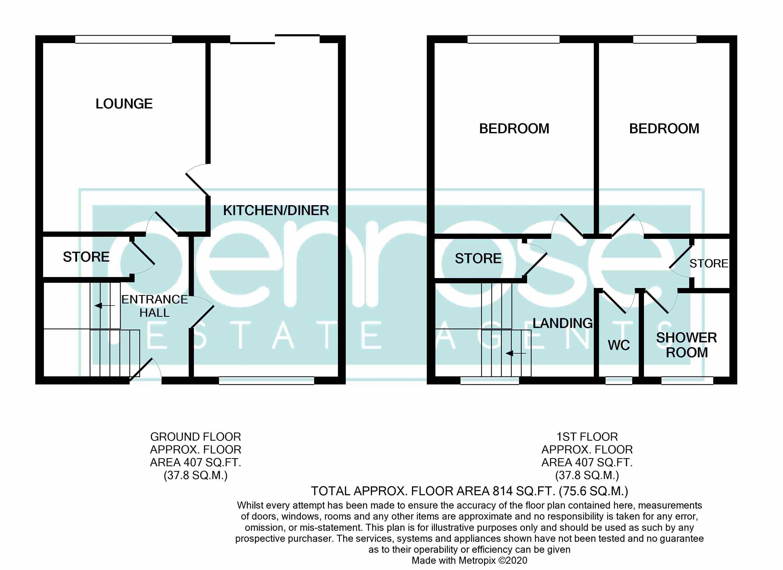 2 bedroom Mid Terrace to buy in Albion Court, Luton Floorplan