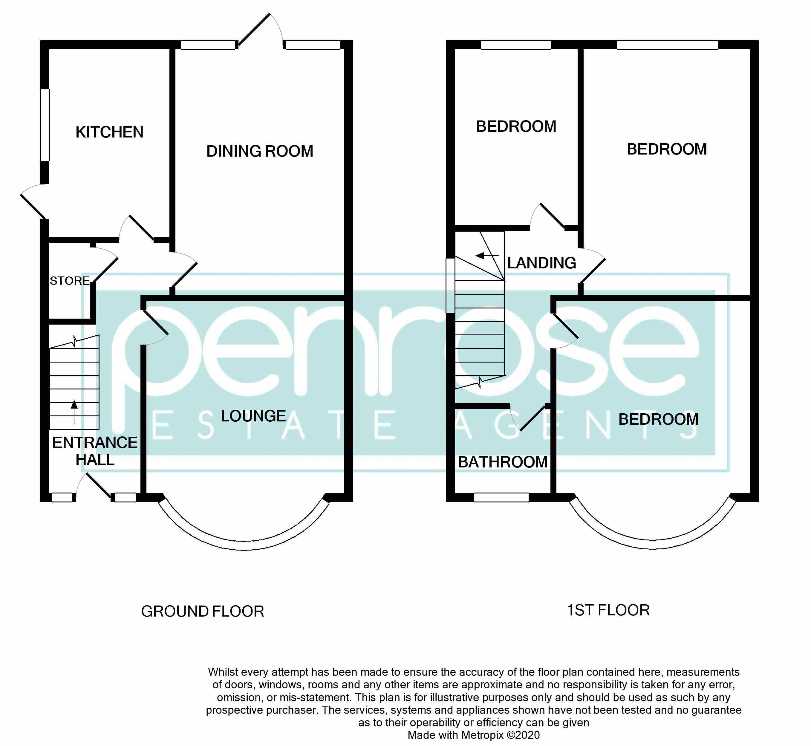 3 bedroom Semi-Detached  to buy in Stockingstone Road, Luton Floorplan