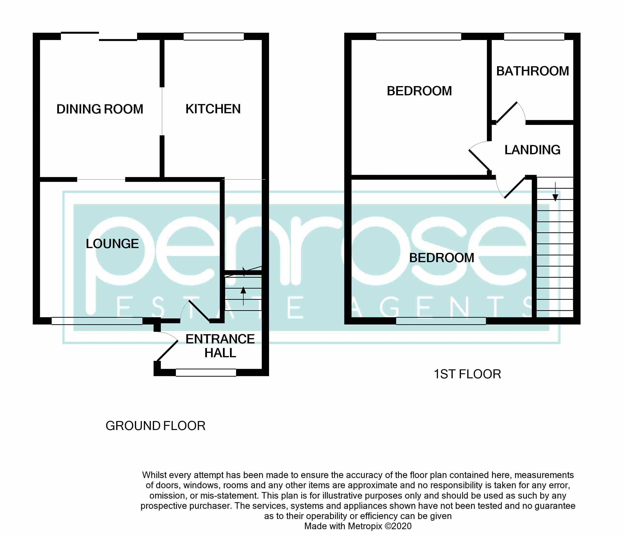 2 bedroom Mid Terrace to buy in Leaside, Dunstable Floorplan