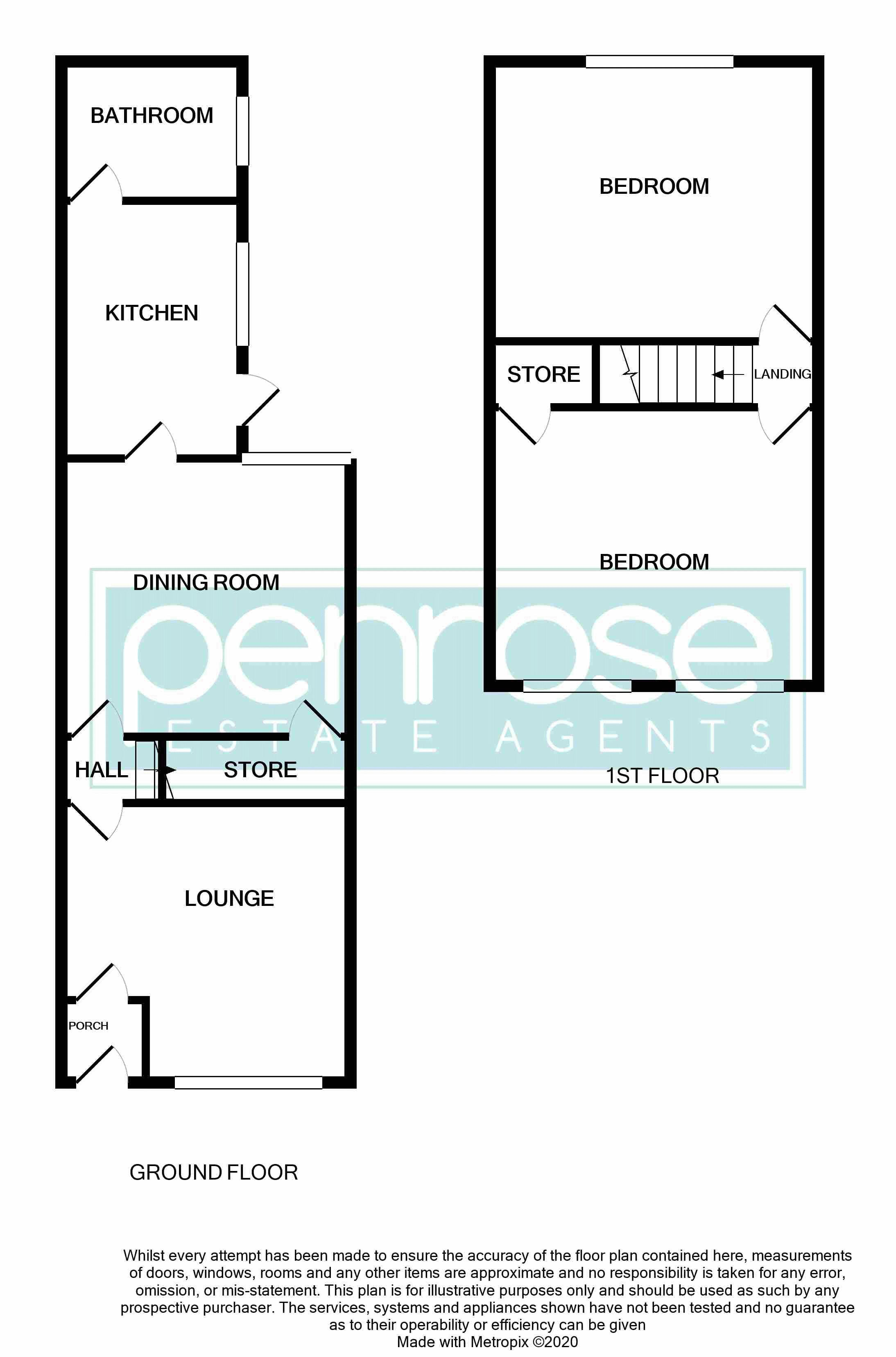 2 bedroom Mid Terrace to buy in Naseby Road, Luton Floorplan