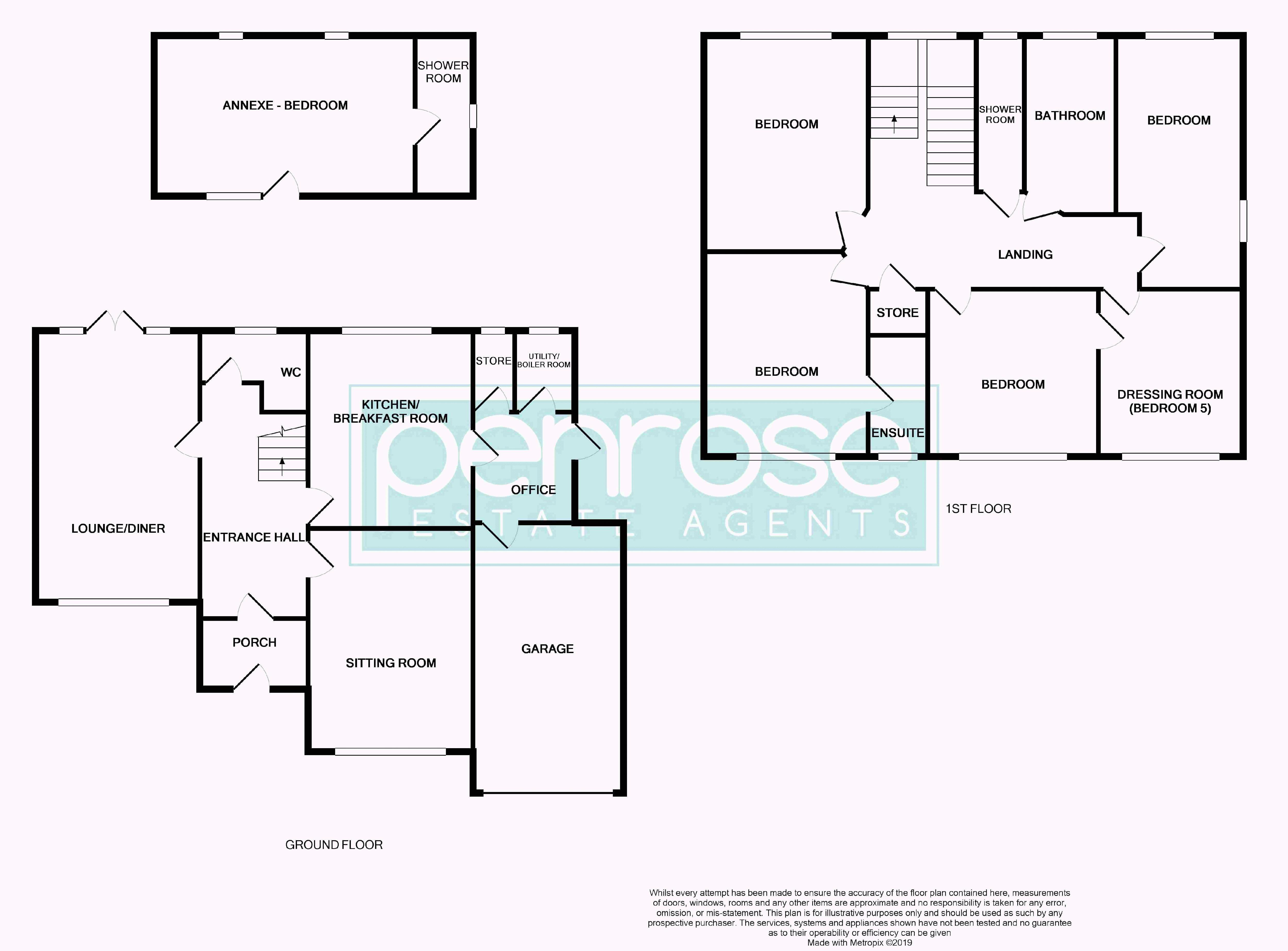 5 bedroom Detached  to buy in Montrose Avenue, Luton Floorplan