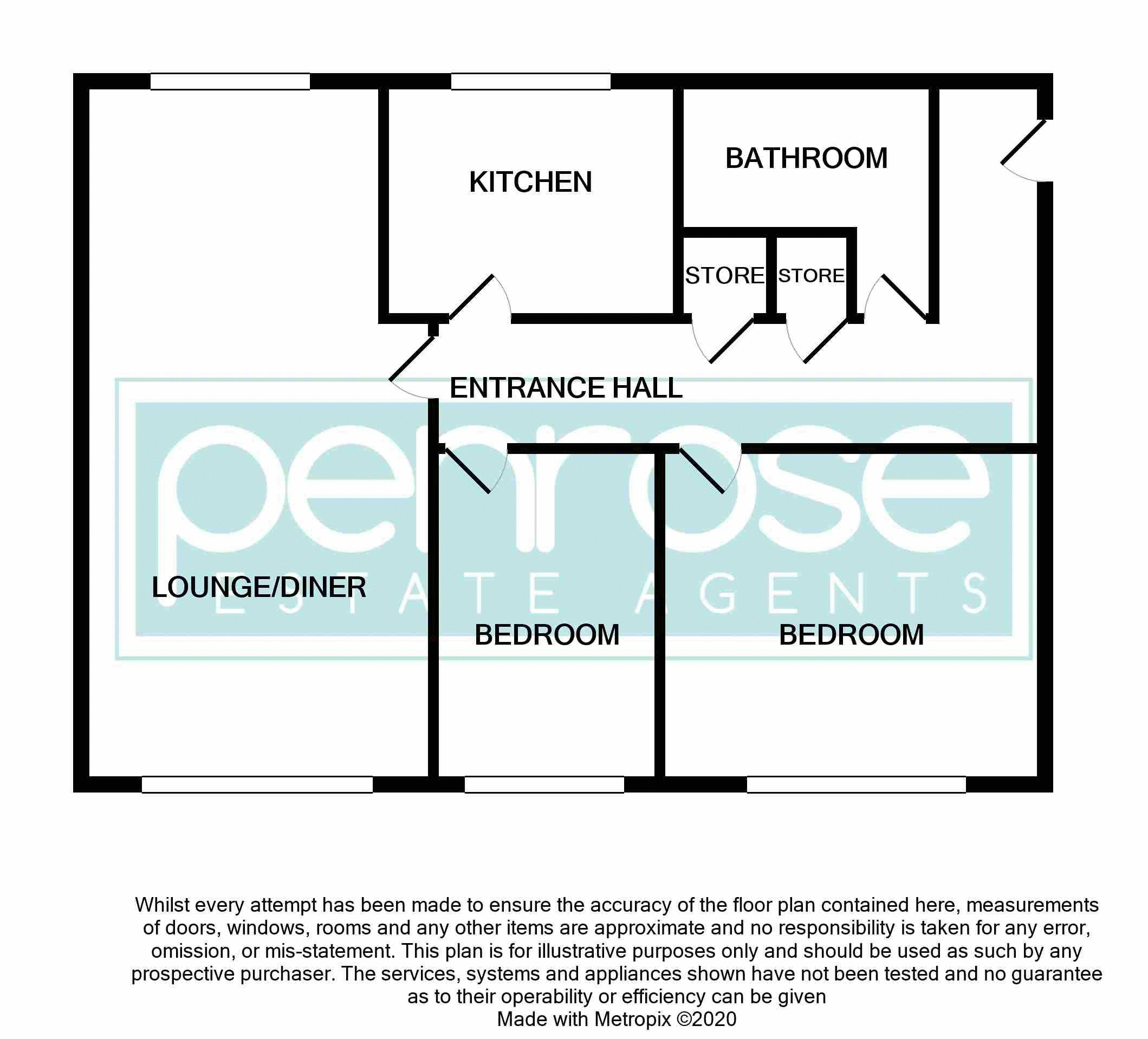 2 bedroom Flat to buy in Petunia Court, Luton Floorplan