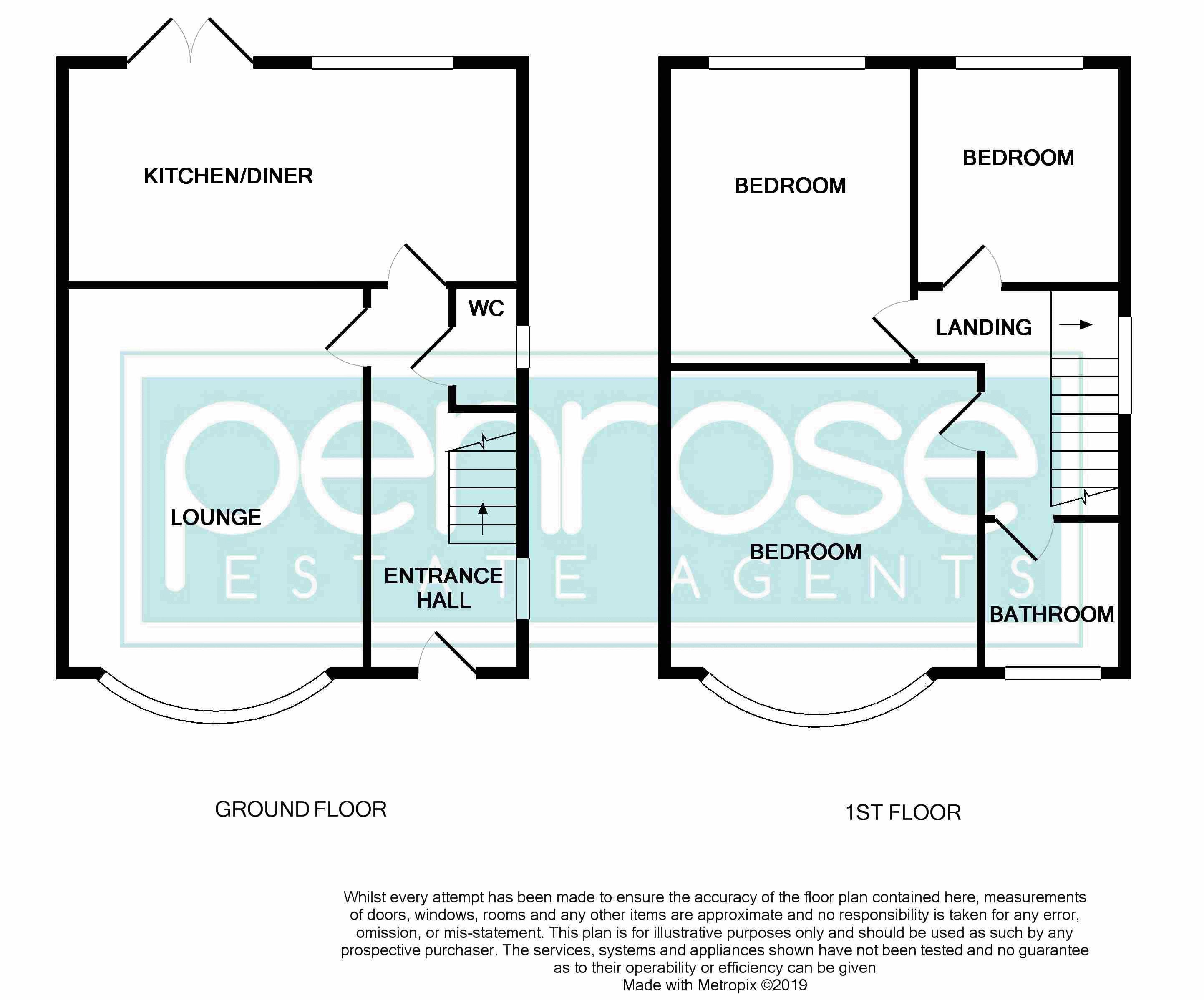 3 bedroom Semi-Detached  to buy in Hillary Crescent, Luton Floorplan