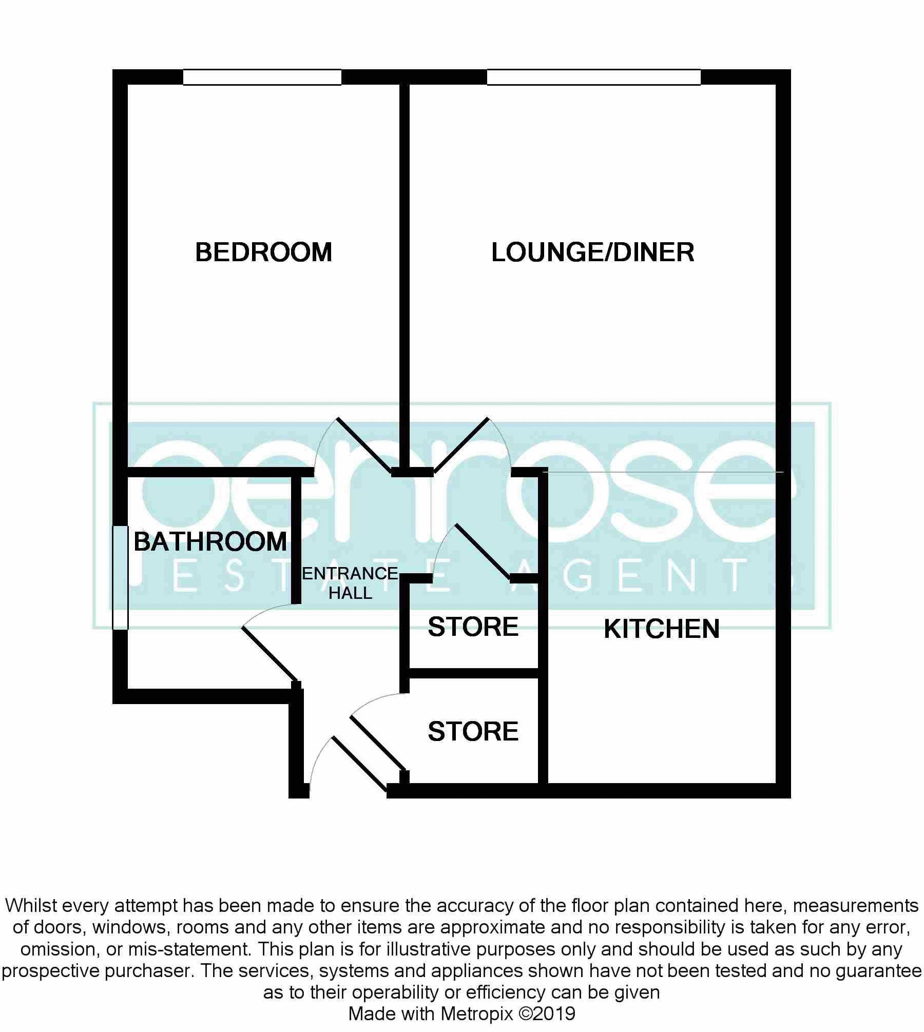 1 bedroom Flat to buy in Hastings Street, Luton Floorplan