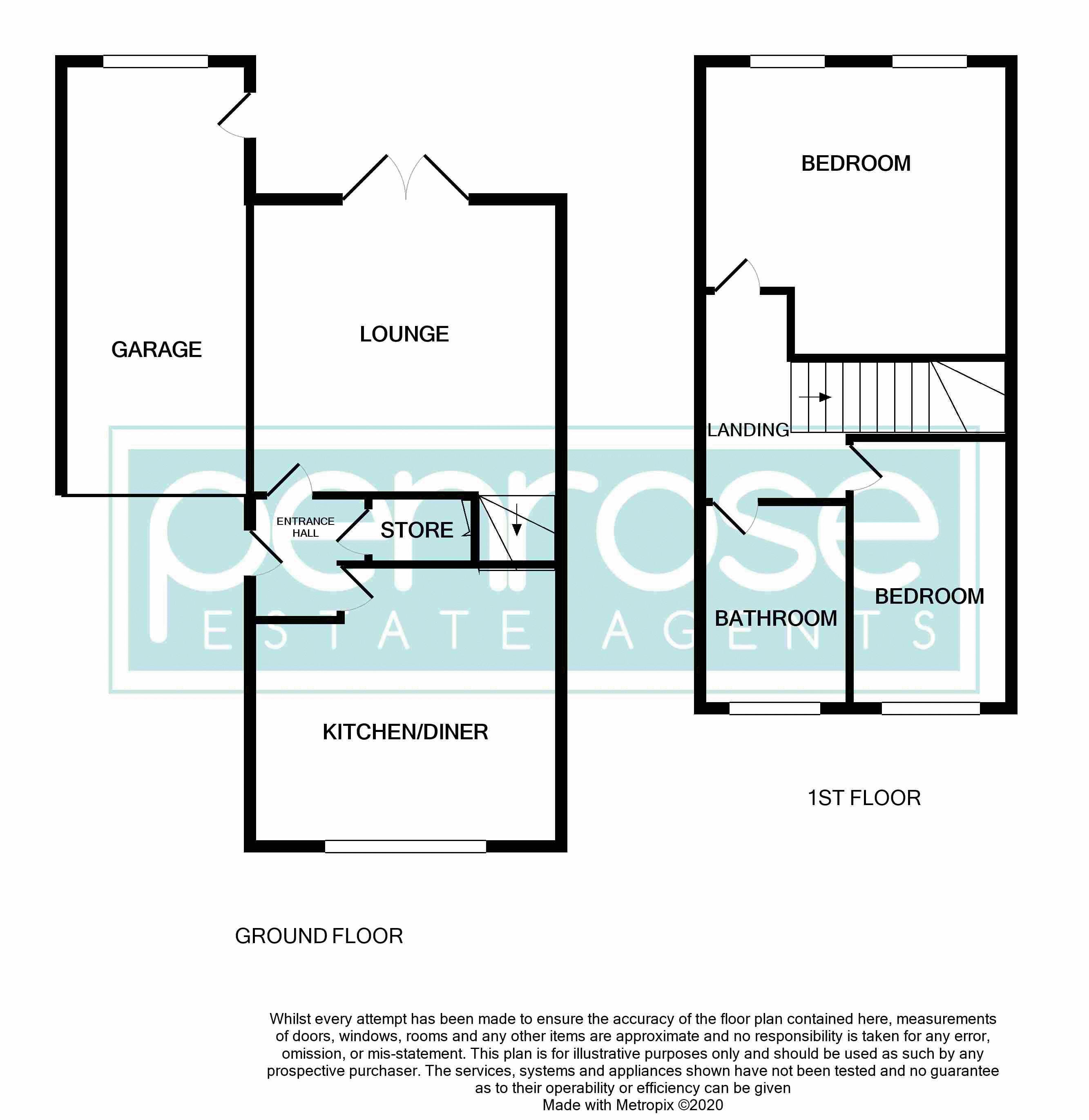 2 bedroom Semi-Detached  to buy in Corbridge Drive, Luton Floorplan