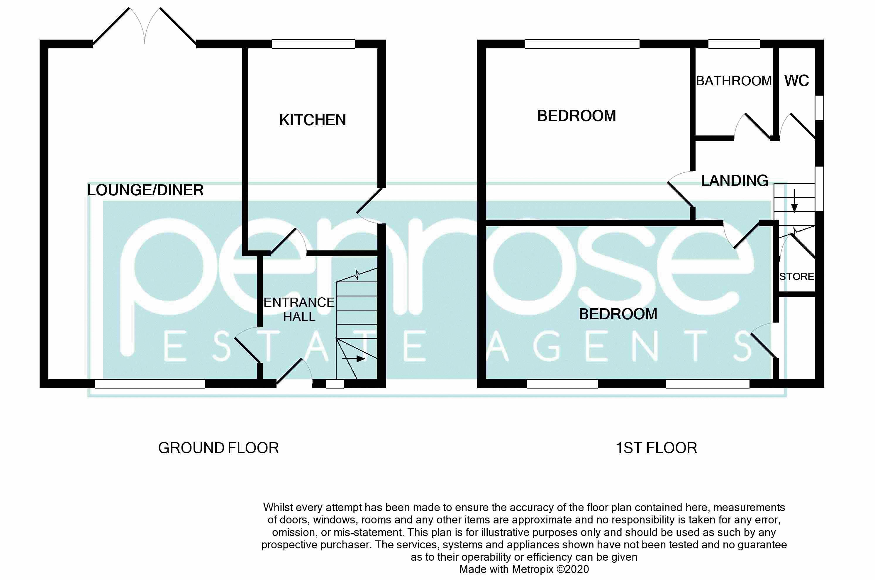 2 bedroom End Terrace to buy in Hallwicks Road, Luton Floorplan